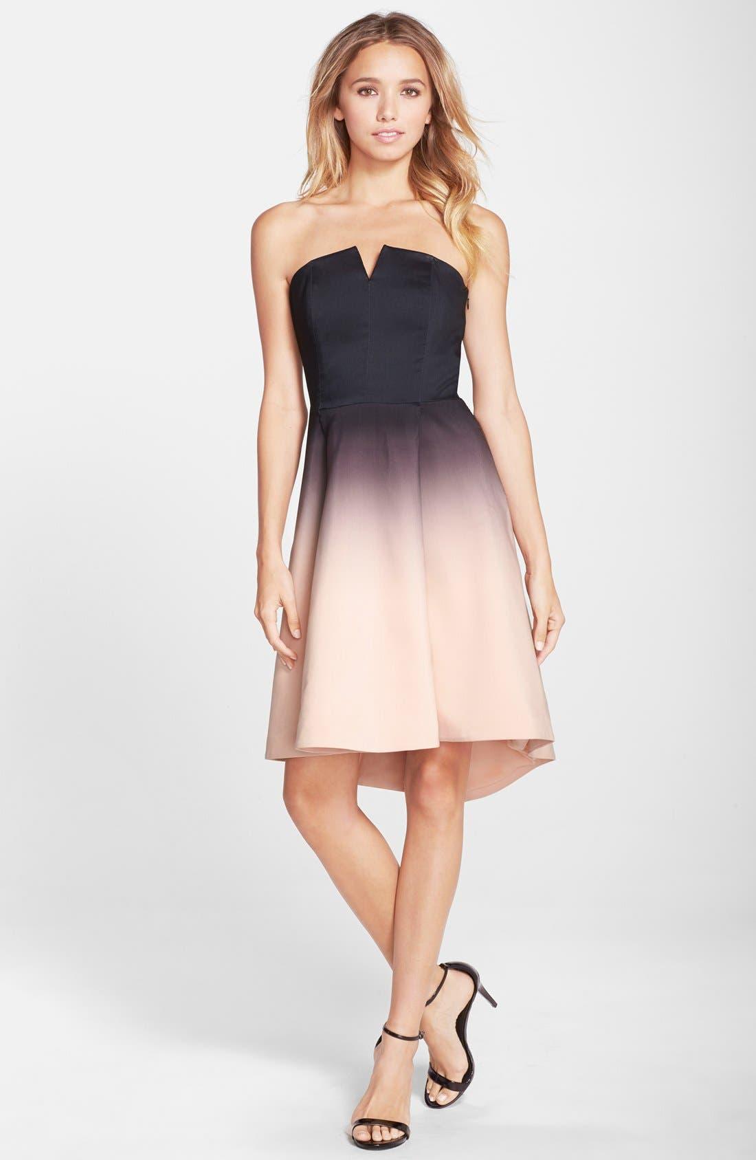 Alternate Image 3  - Halston Heritage Ombré Strapless Dress
