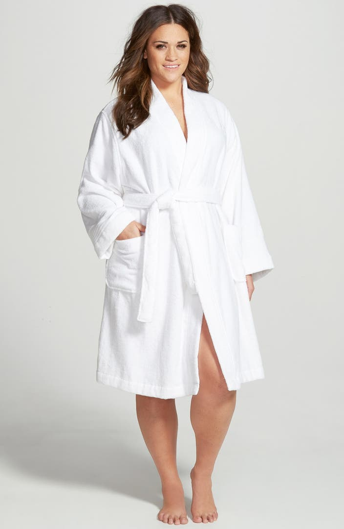 Lauren Ralph Lauren Cotton Terry Robe (Plus Size) (Online ...
