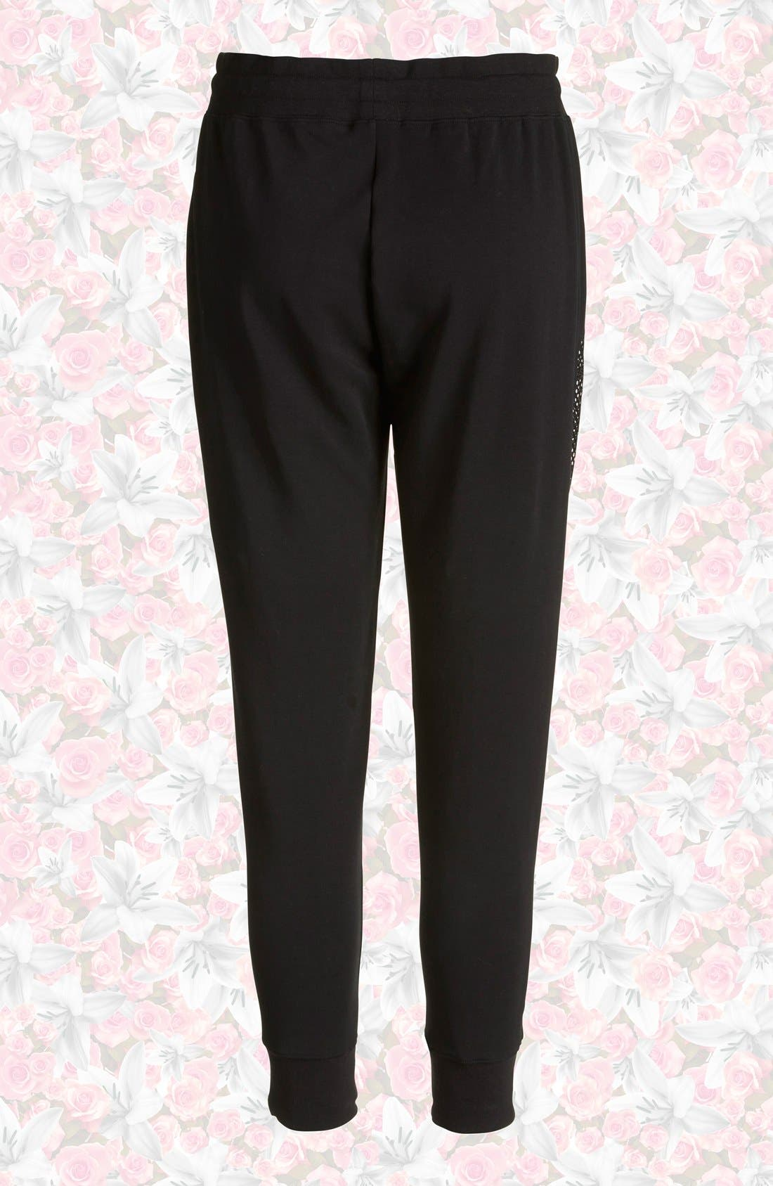 Alternate Image 2  - Nike 'RU Mesh Mix' Cuffed Sweatpants (Women)