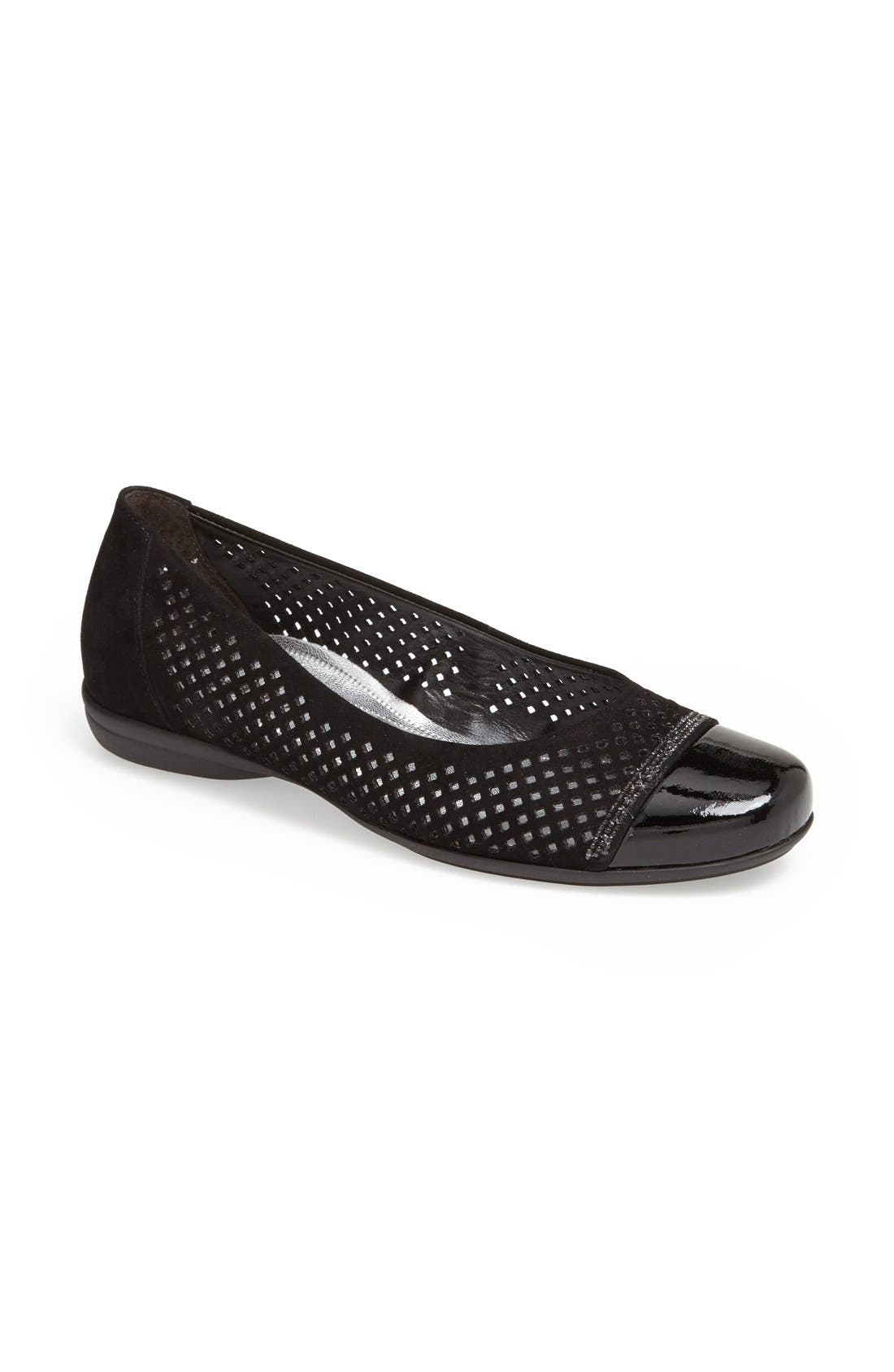Alternate Image 1 Selected - Gabor Leather Ballet Flat