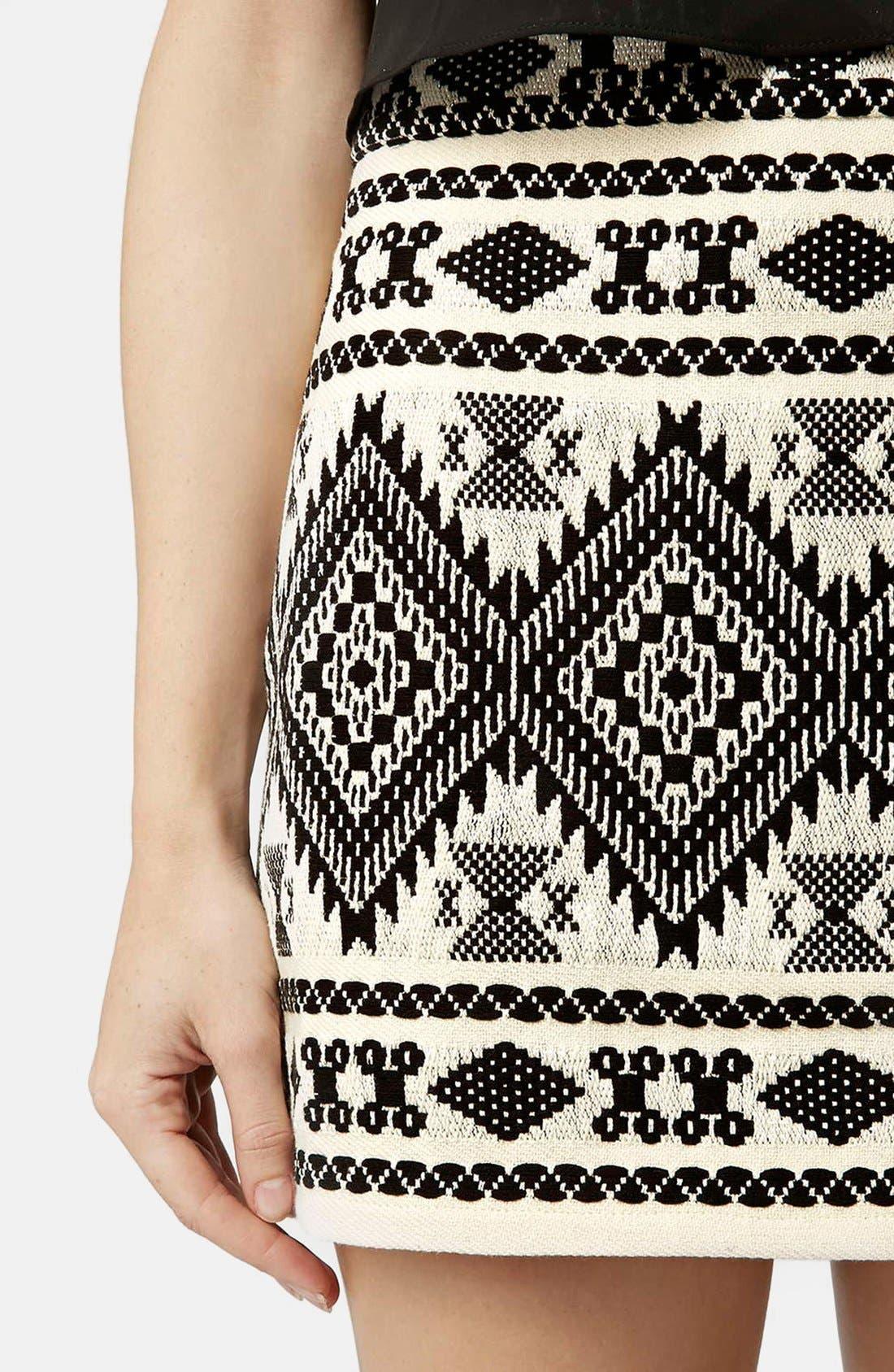 Alternate Image 4  - Topshop Blanket A-Line Miniskirt (Petite)