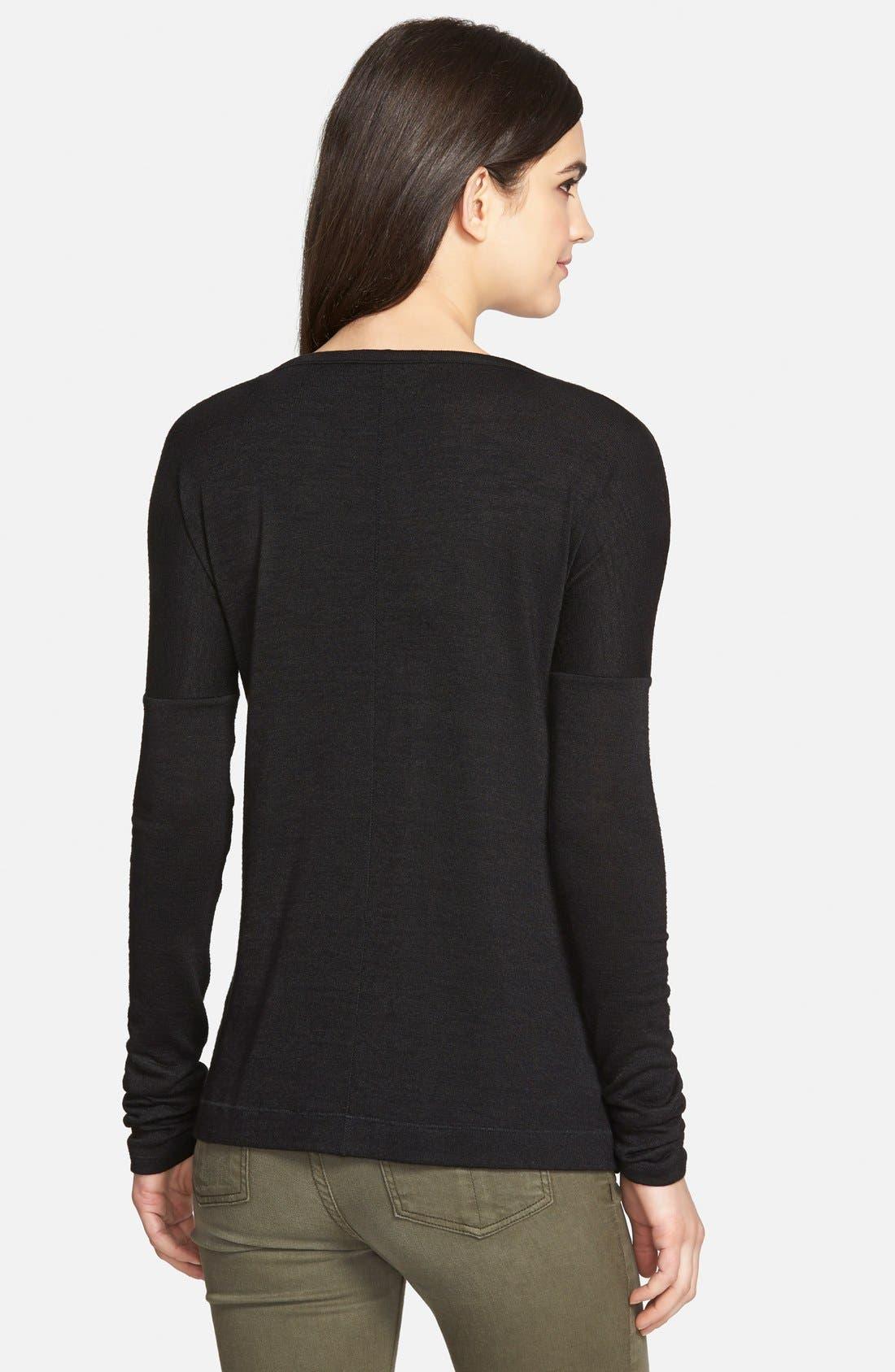 Alternate Image 2  - rag & bone/JEAN 'Theo' Long Sleeve V-Neck Pullover (Nordstrom Exclusive)