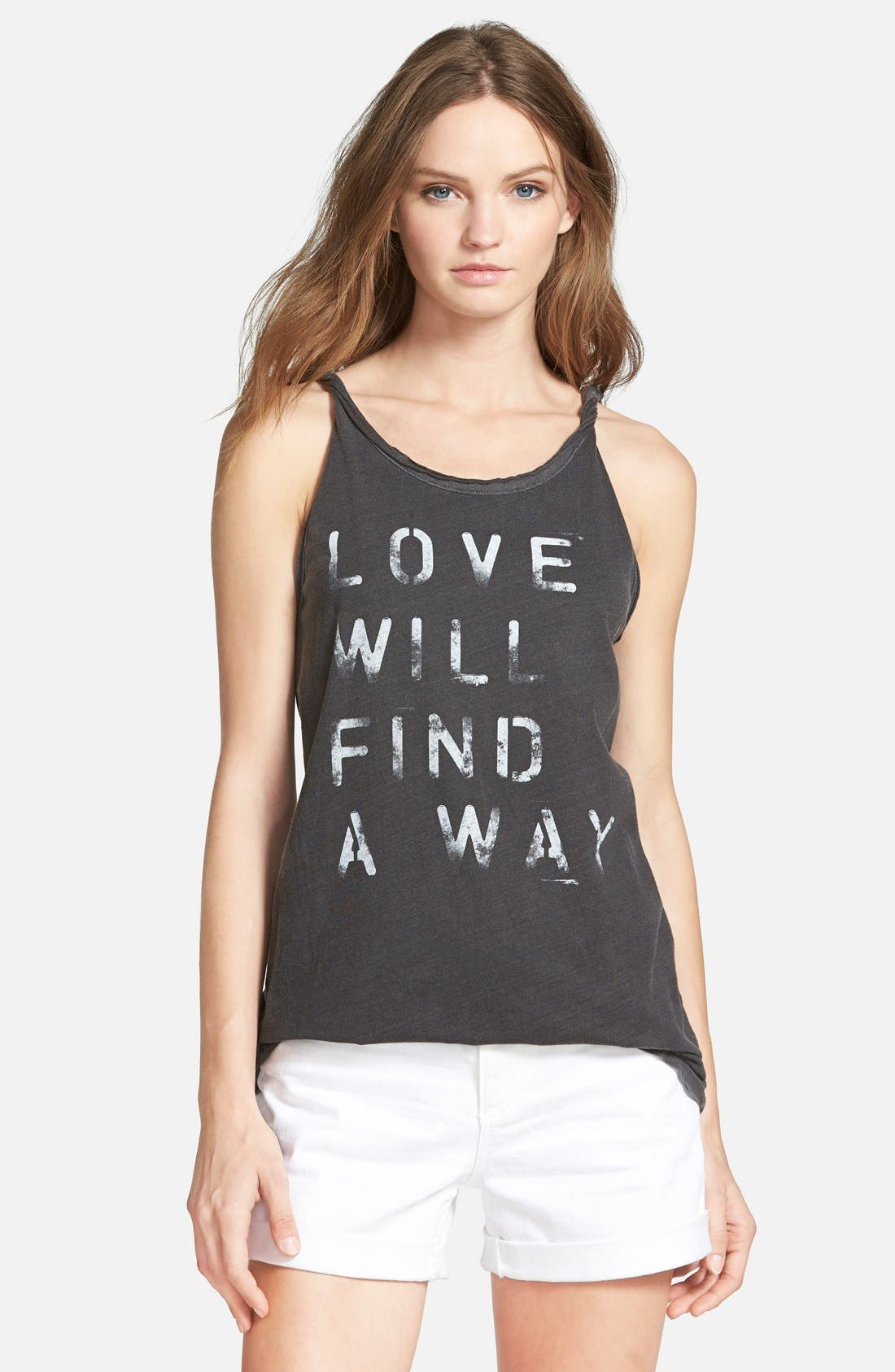 Alternate Image 1 Selected - Chaser 'Love Will Find a Way' Graphic Tank