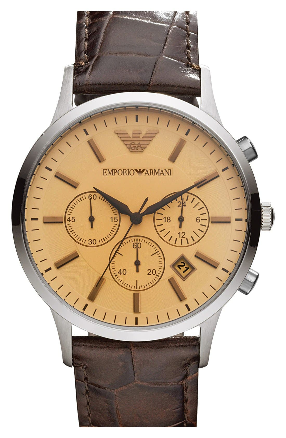 Main Image - Emporio Armani Stainless Steel Watch, 43mm