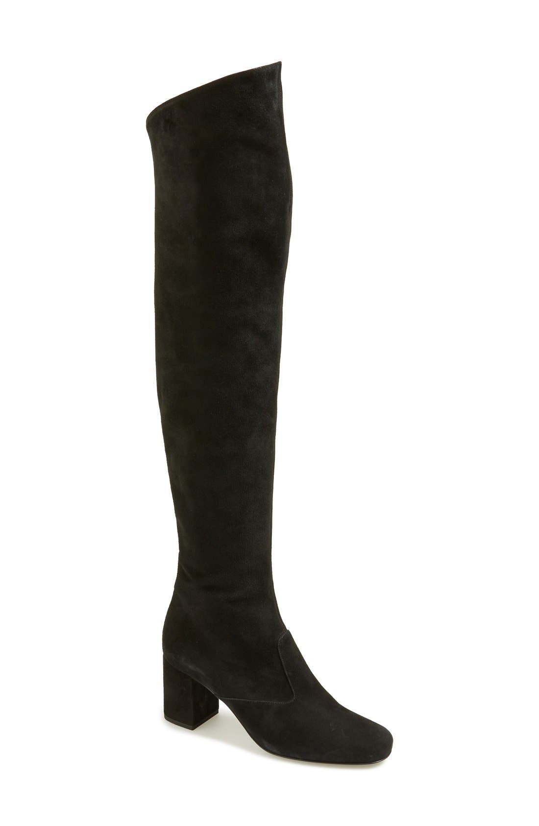 Saint Laurent 'Babies' Over the Knee Boot (Women)