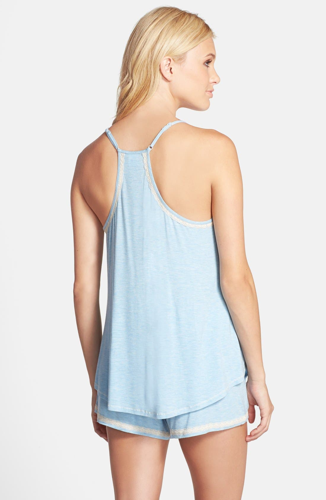 Alternate Image 2  - In Bloom by Jonquil Lace Trim Tank & Shorts