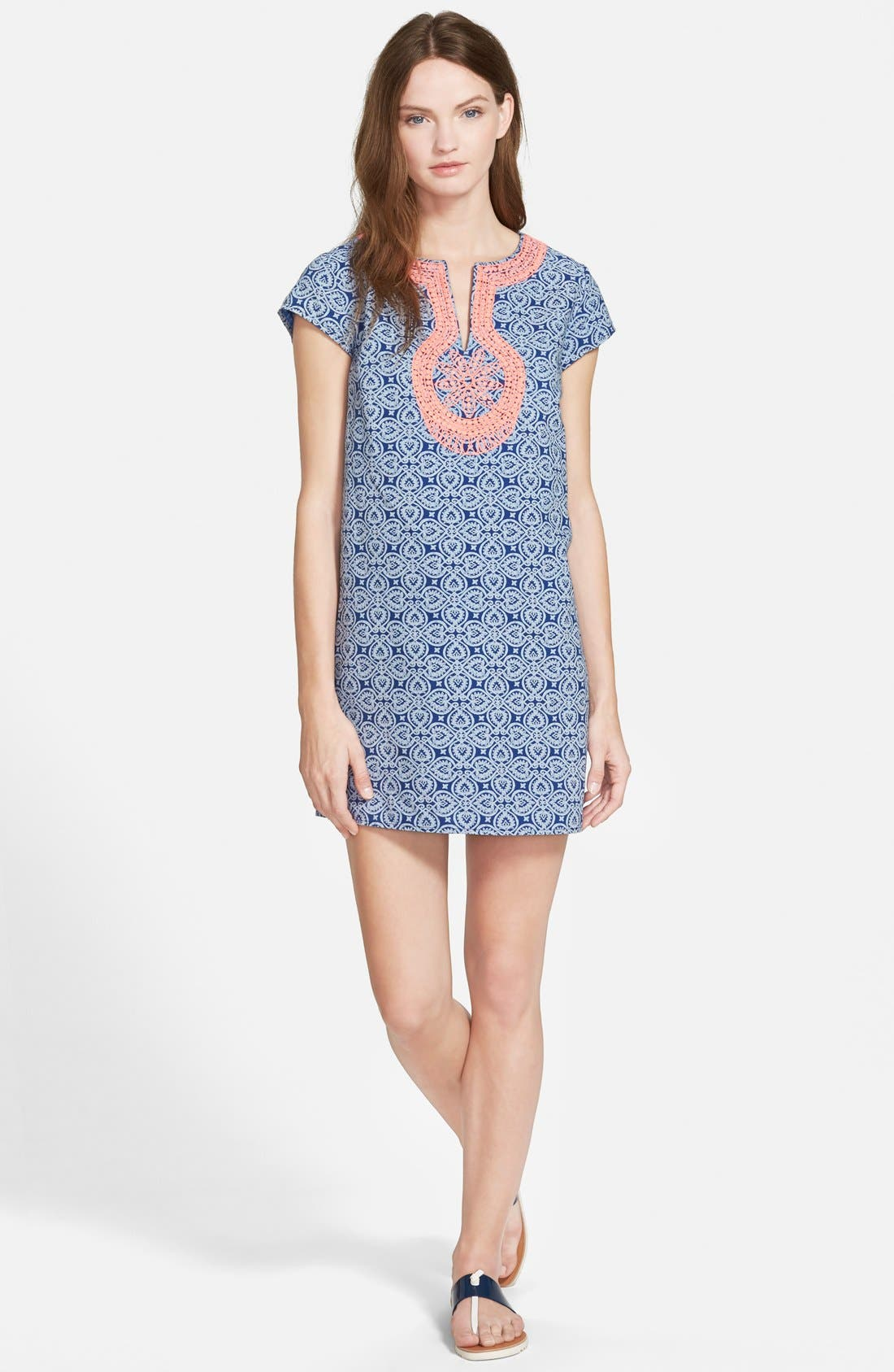 Alternate Image 1 Selected - Vineyard Vines Tile Print Shift Dress