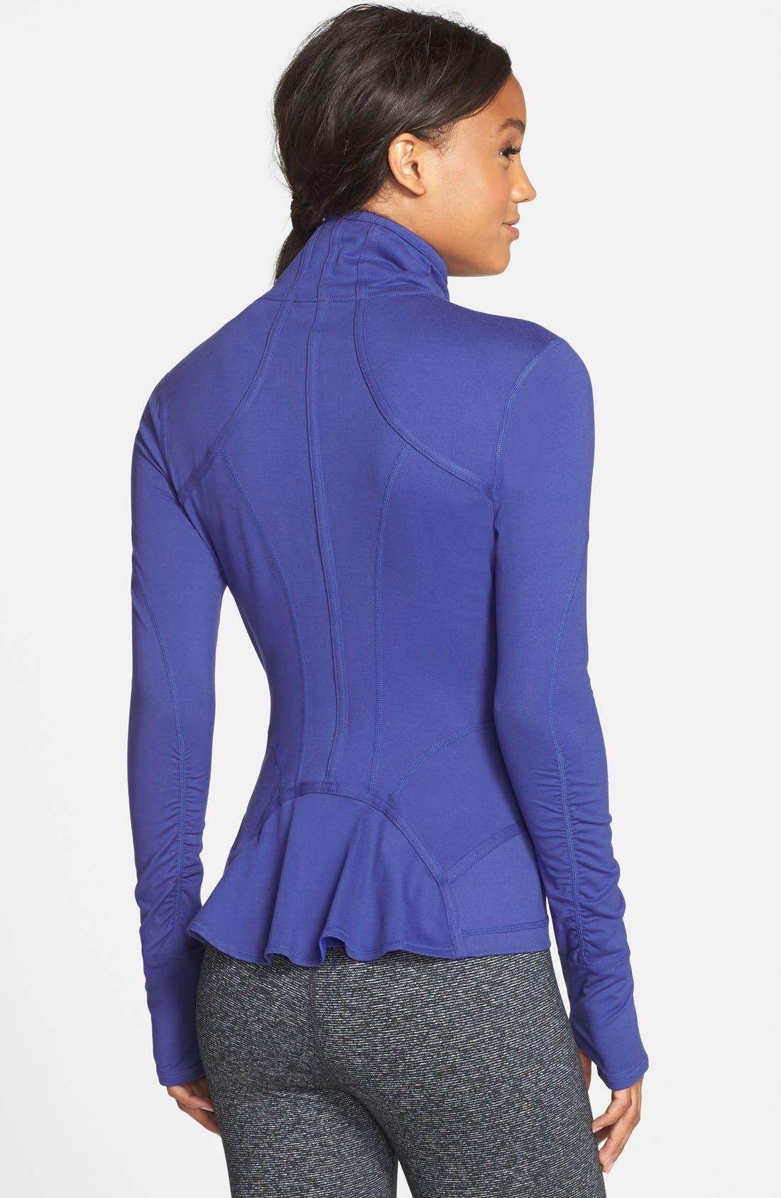Alternate Image 2  - Zella 'Flirt' Ruffle Back Jacket