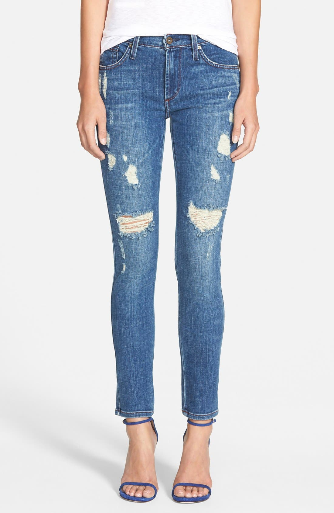 Alternate Image 1 Selected - James Jeans Five Pocket Leggings (Indio)