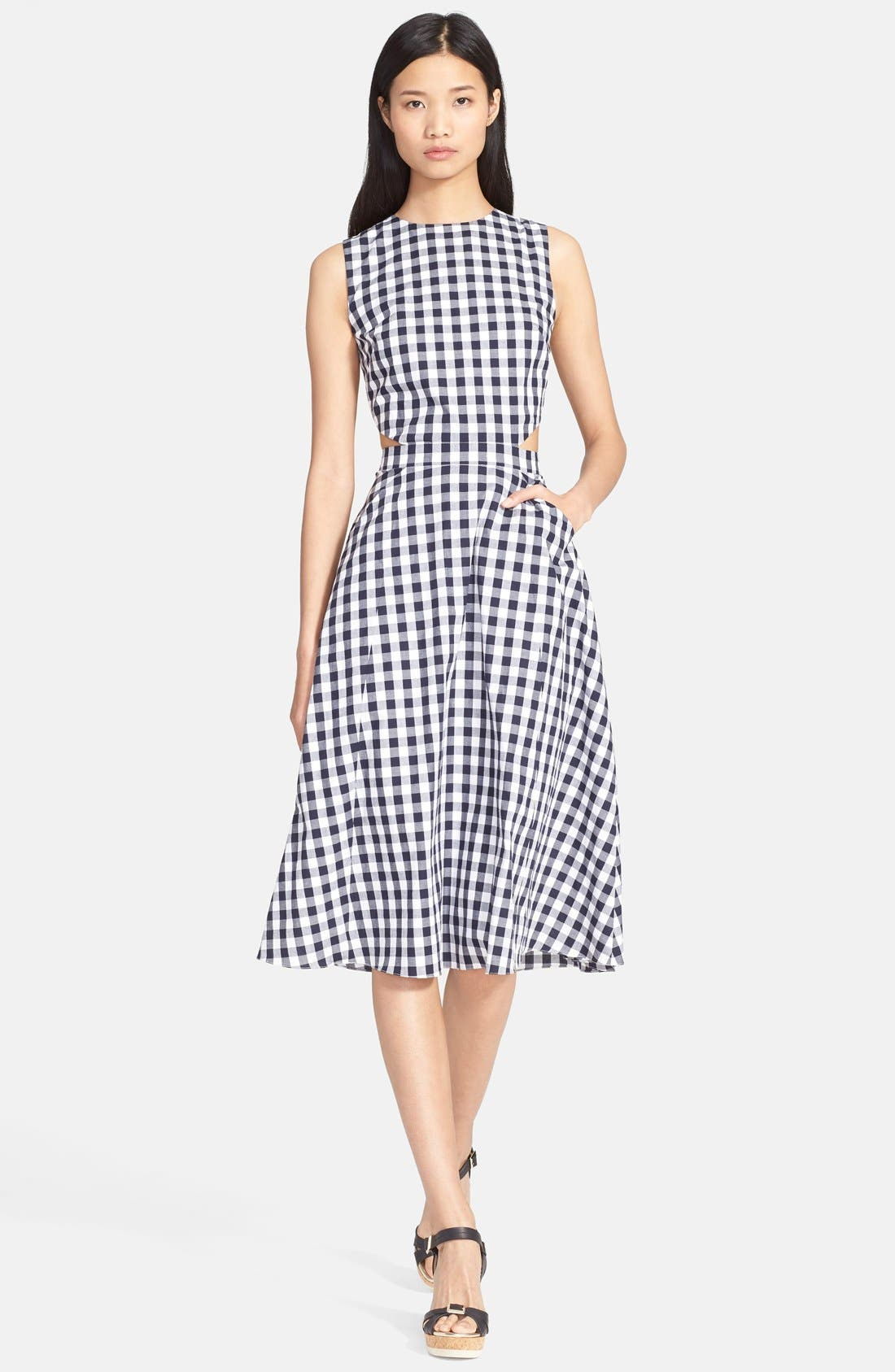 Alternate Image 1 Selected - Tanya Taylor 'Monica' Gingham Fit & Flare Dress