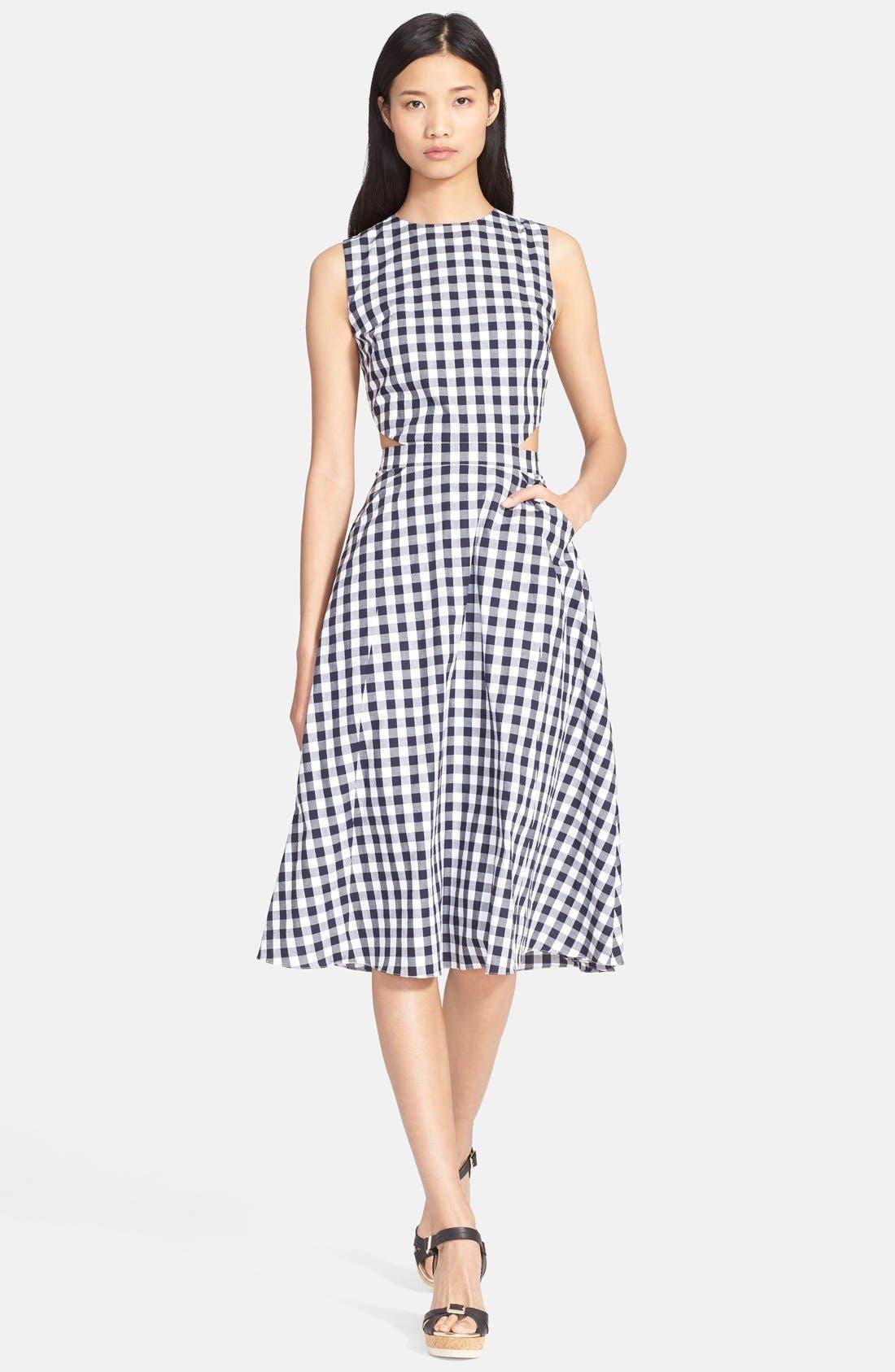 Main Image - Tanya Taylor 'Monica' Gingham Fit & Flare Dress