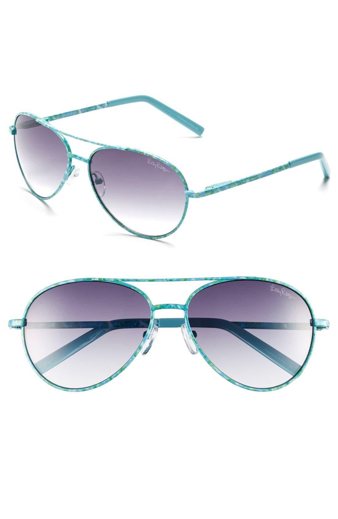 Main Image - Lilly Pulitzer® 'Augusta' 57mm Sunglasses