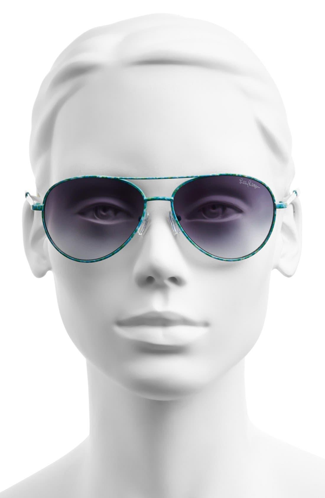 Alternate Image 2  - Lilly Pulitzer® 'Augusta' 57mm Sunglasses
