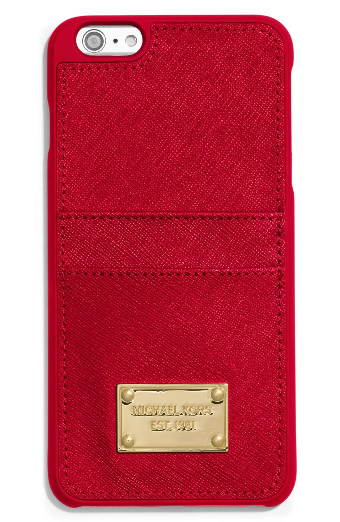 Alternate Image 1 Selected - MICHAEL Michael Kors Saffiano Leather iPhone 6 Plus Case