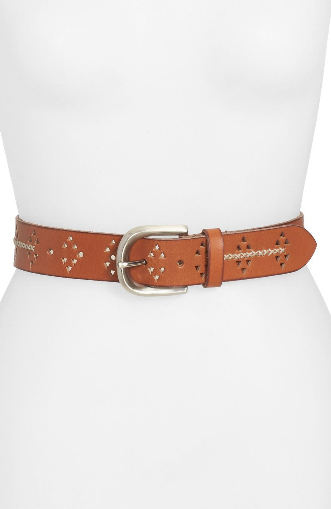 Alternate Image 1 Selected - Lucky Brand Cutout Leather Belt