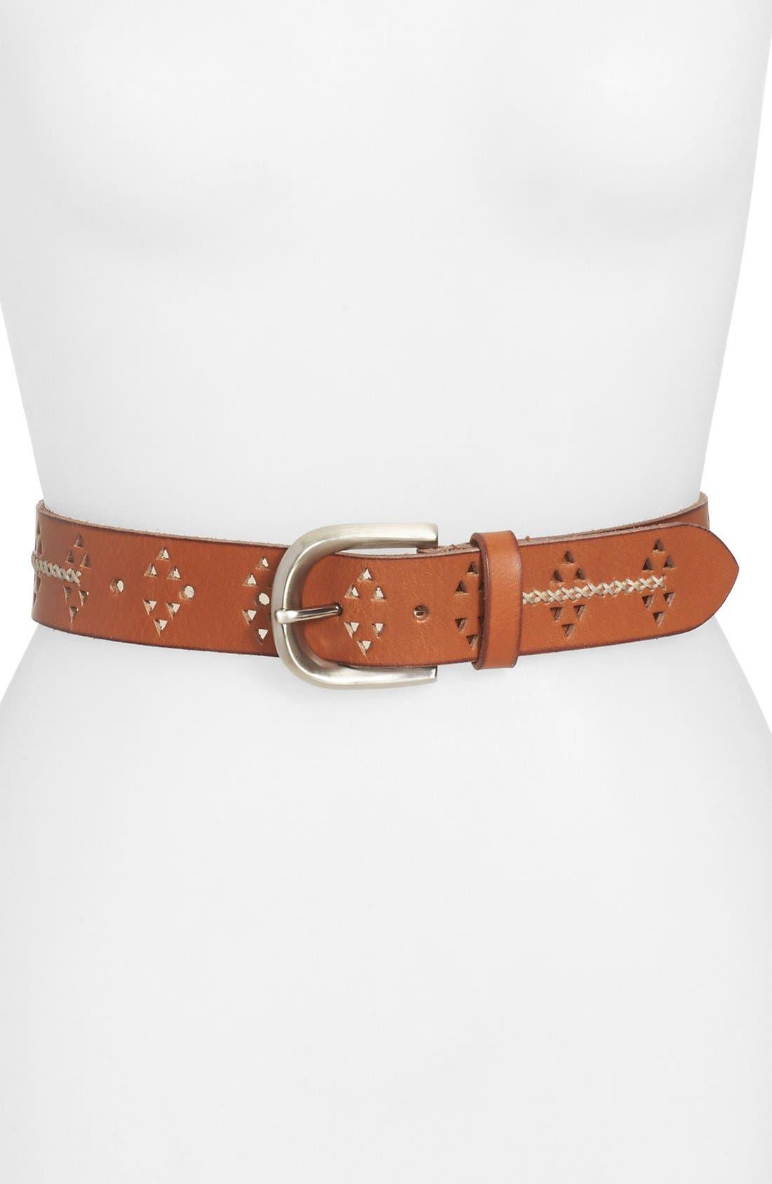 Main Image - Lucky Brand Cutout Leather Belt