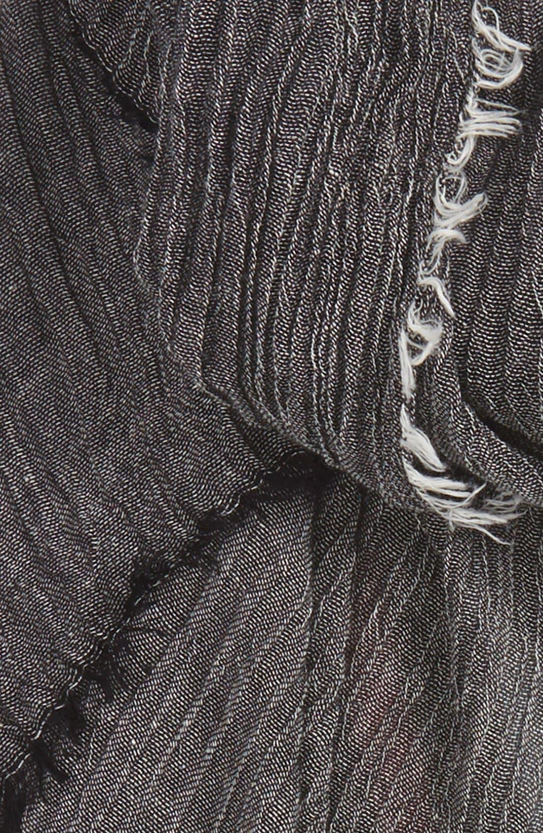 Alternate Image 3  - Renee's Accessories Stripe Crinkle Scarf