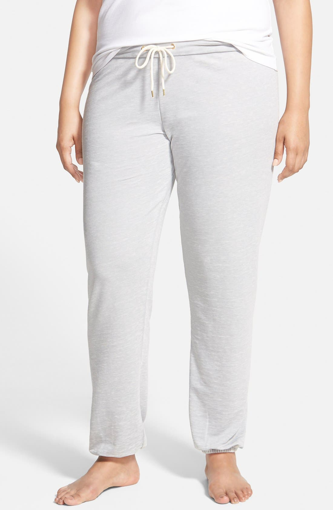 Alternate Image 1 Selected - Honeydew Intimates Burnout French Terry Joggers (Plus Size) (Online Only)