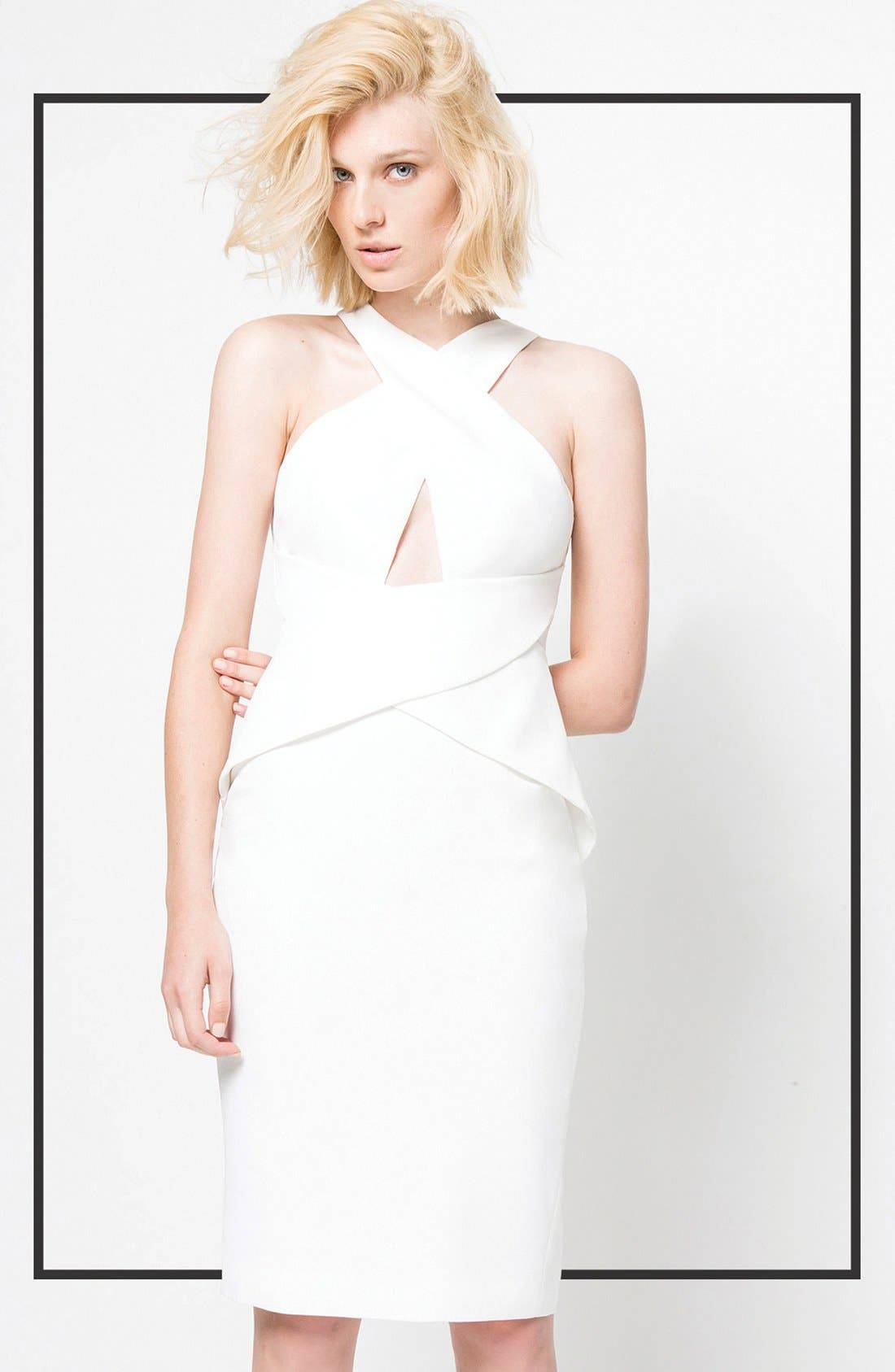 Alternate Image 4  - C/MEO Collective 'What You Know' Peplum Dress