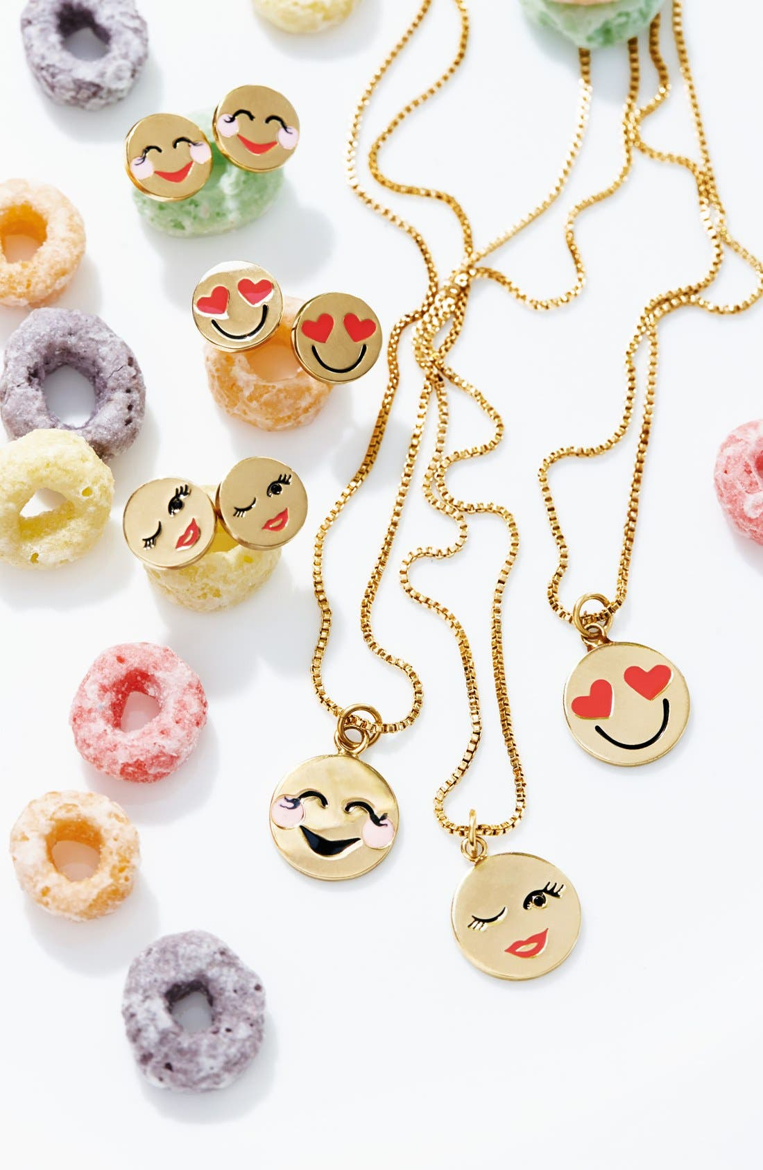 Alternate Image 3  - kate spade new york 'tell all' emoji pendant necklace