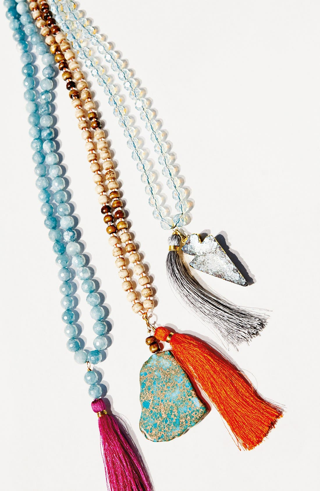 Alternate Image 3  - Panacea Beaded Stone Tassel Necklace