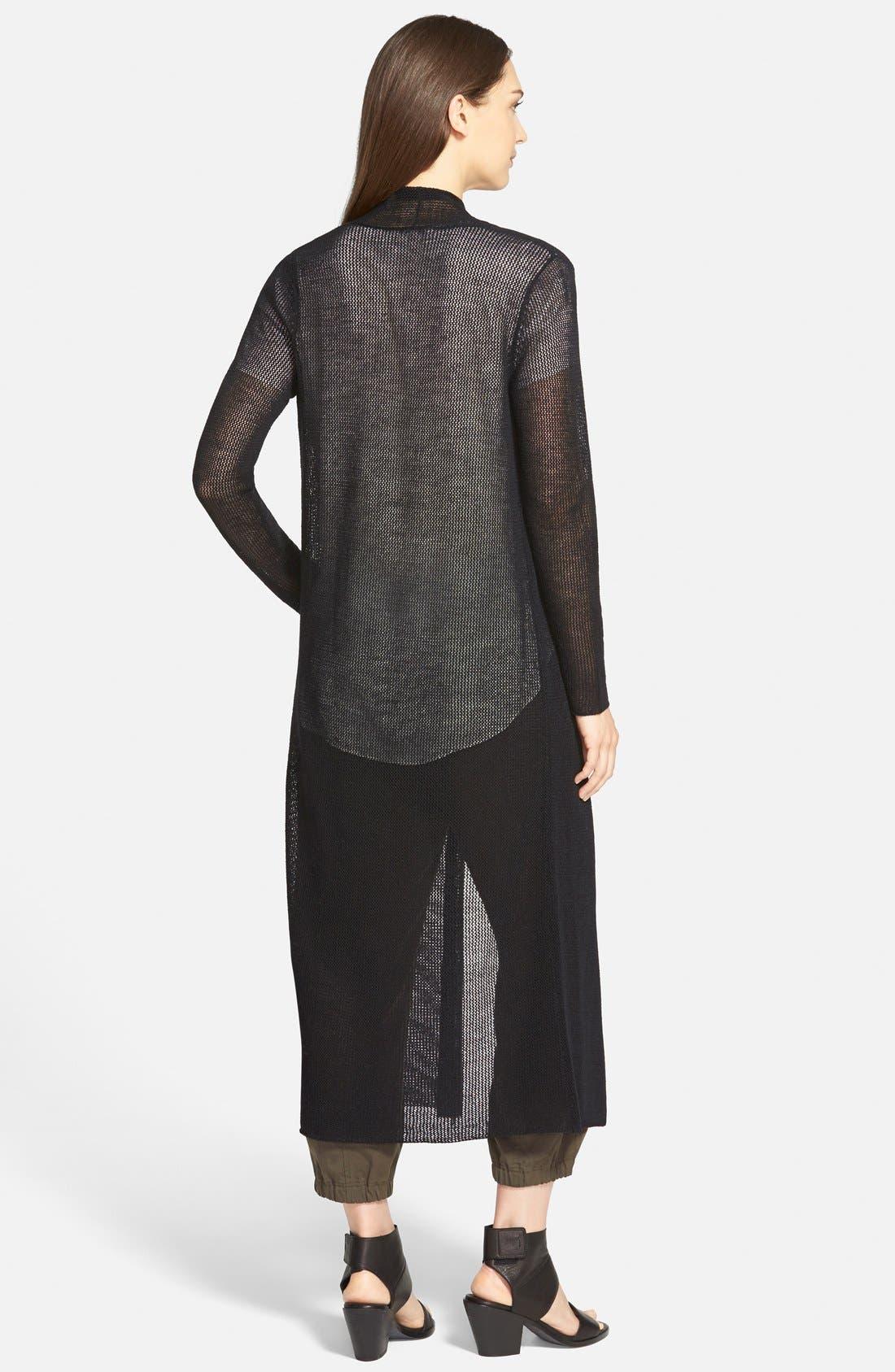 Alternate Image 2  - Eileen Fisher Wool Mesh Long Cardigan