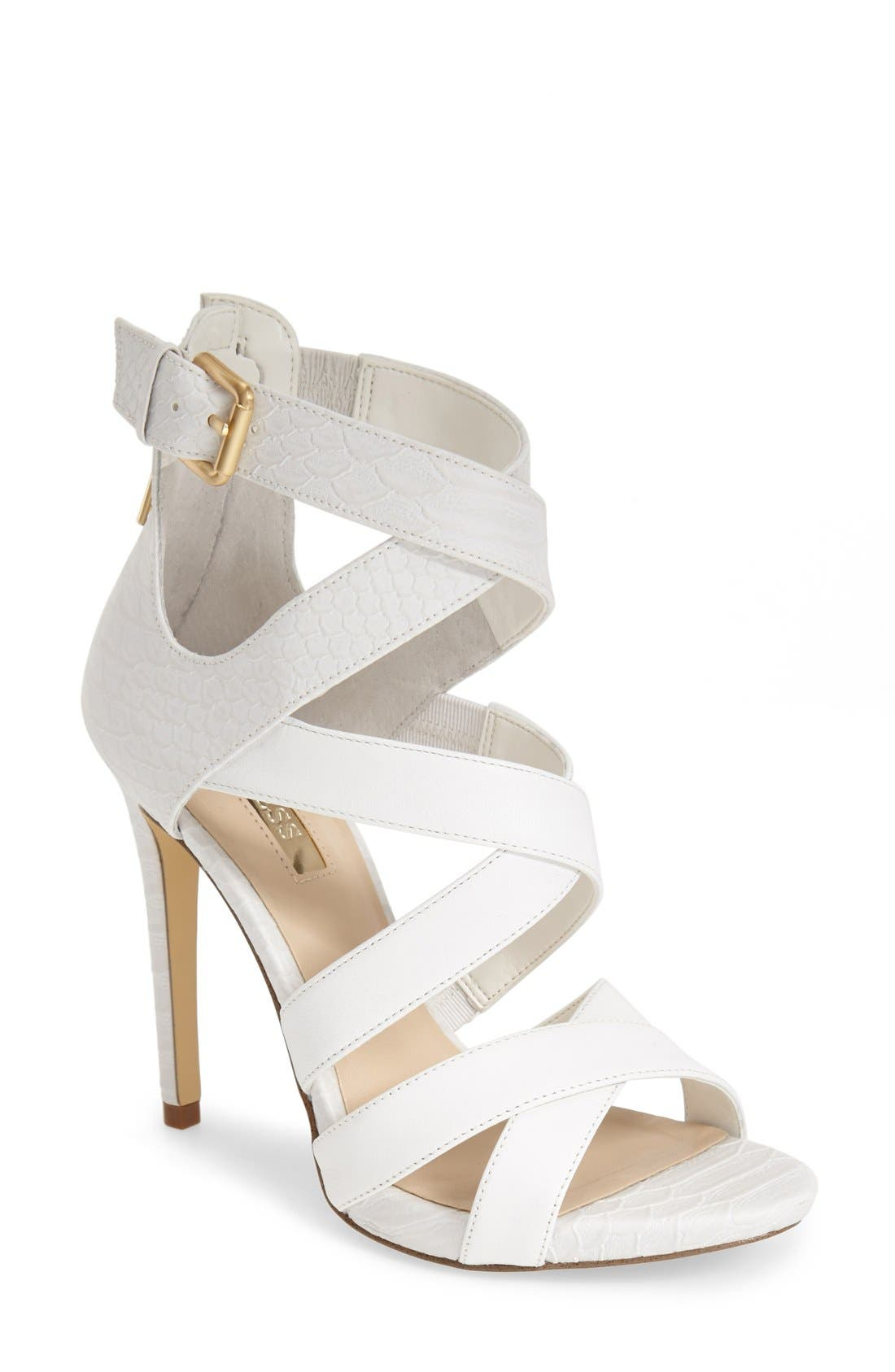 Alternate Image 1 Selected - GUESS 'Abby' Strappy Sandal (Women)