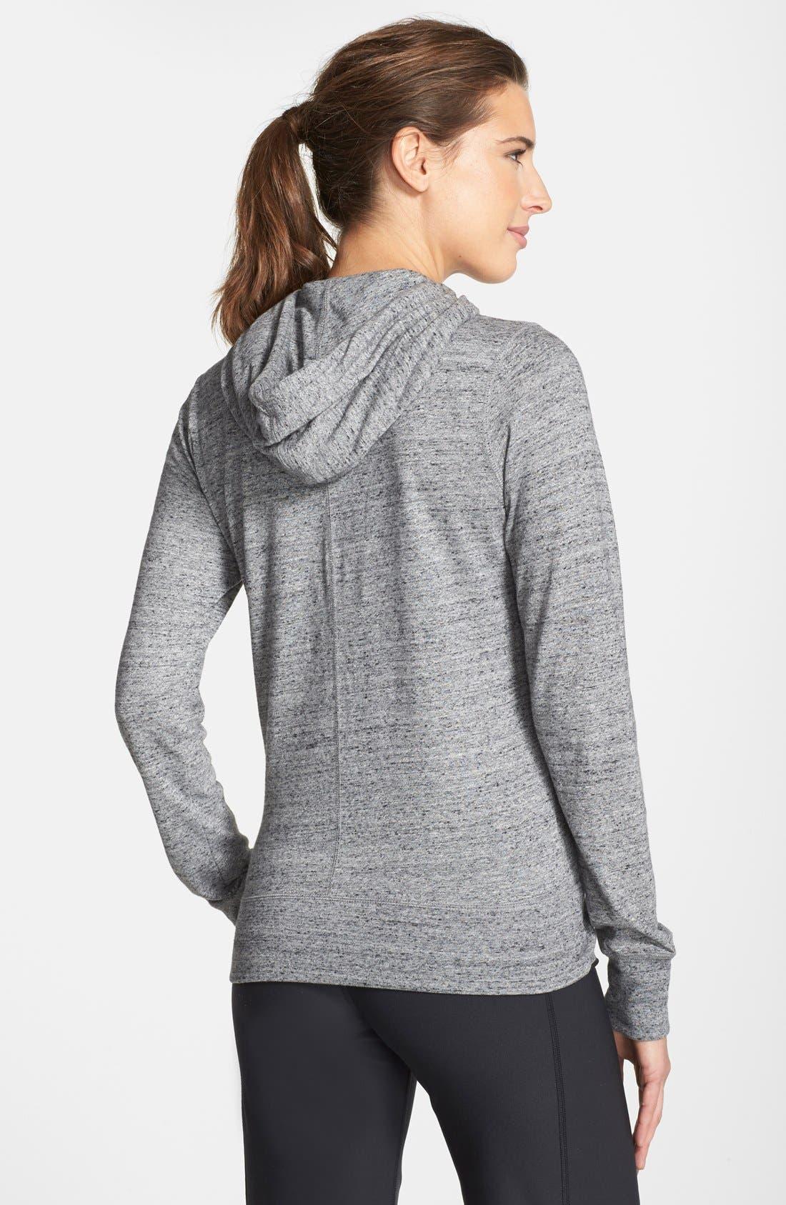 Alternate Image 2  - Nike 'Gym Vintage' Zip Front Hoodie