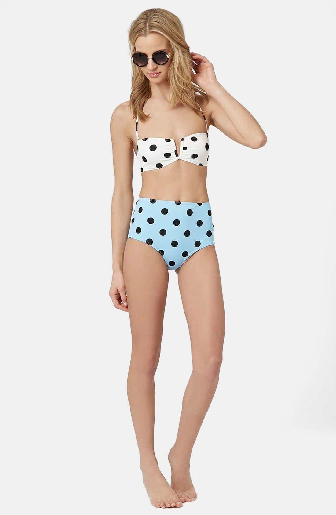 Alternate Image 4  - Topshop Polka Dot Bikini Set