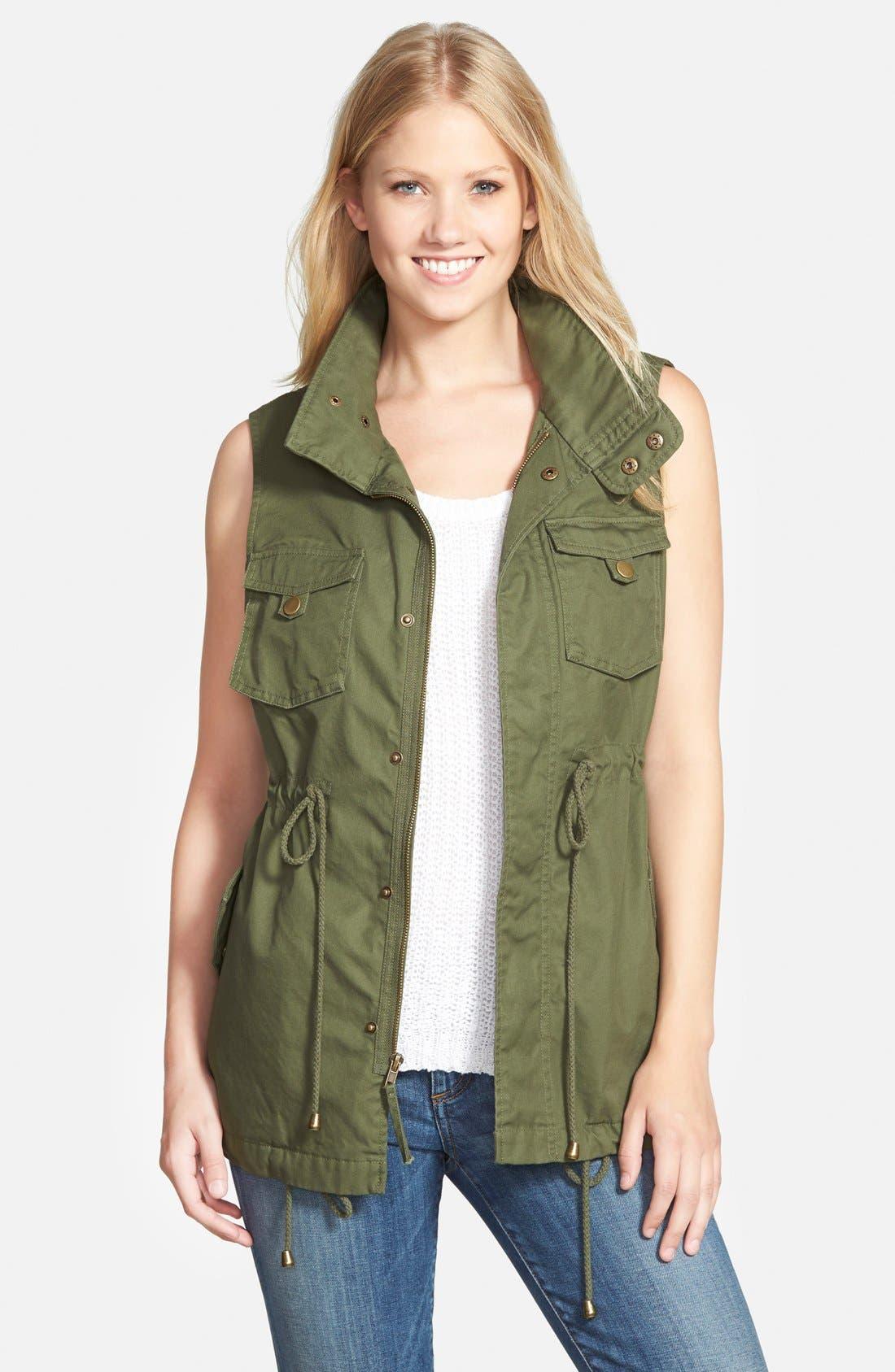 Pleione Cotton Twill Military Vest (Regular & Petite)