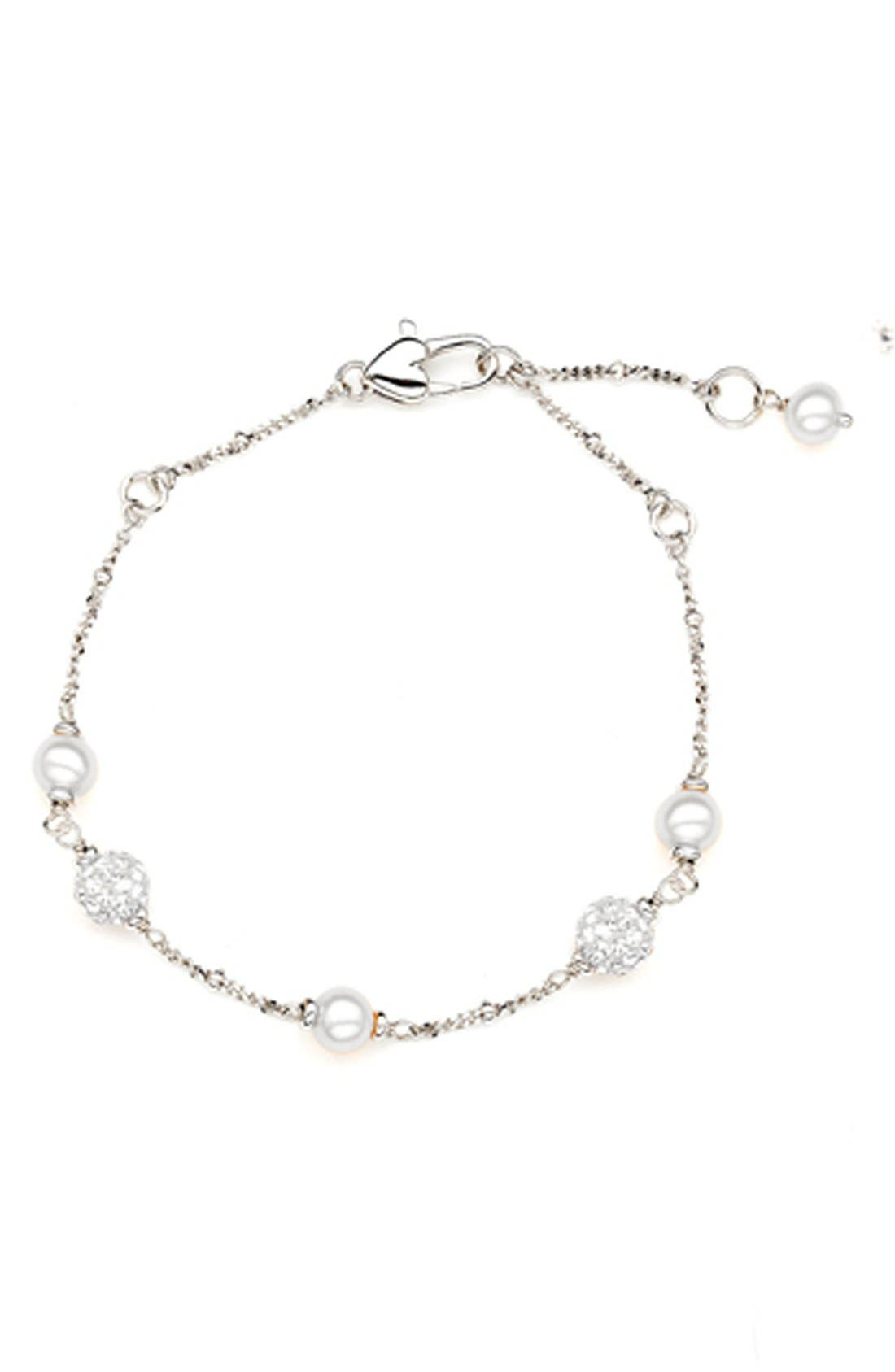 HONORA Freshwater Pearl Station Bracelet (Girls)