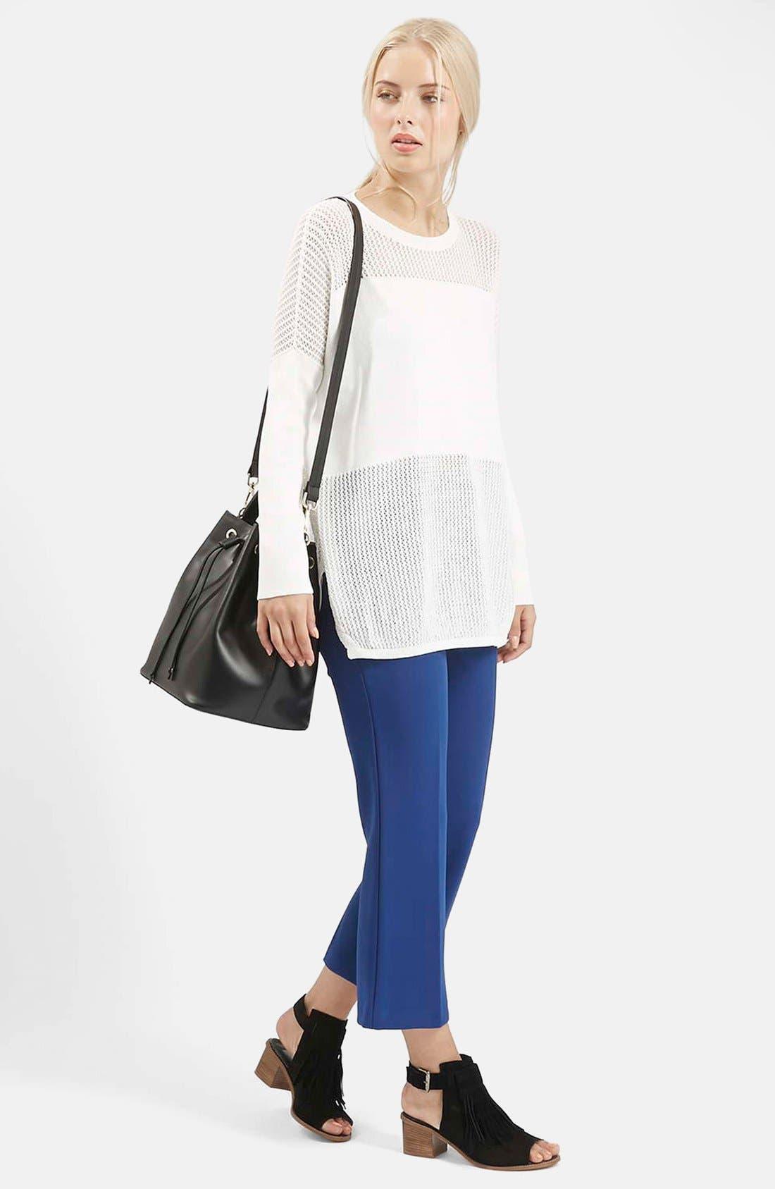 Alternate Image 5  - Topshop Paneled Pointelle Sweater