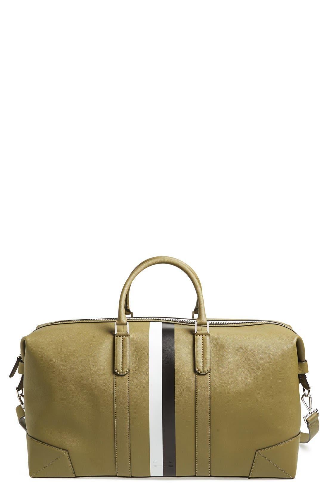 Main Image - Ben Minkoff 'Wythe' Weekend Size Saffiano Leather Duffel Bag