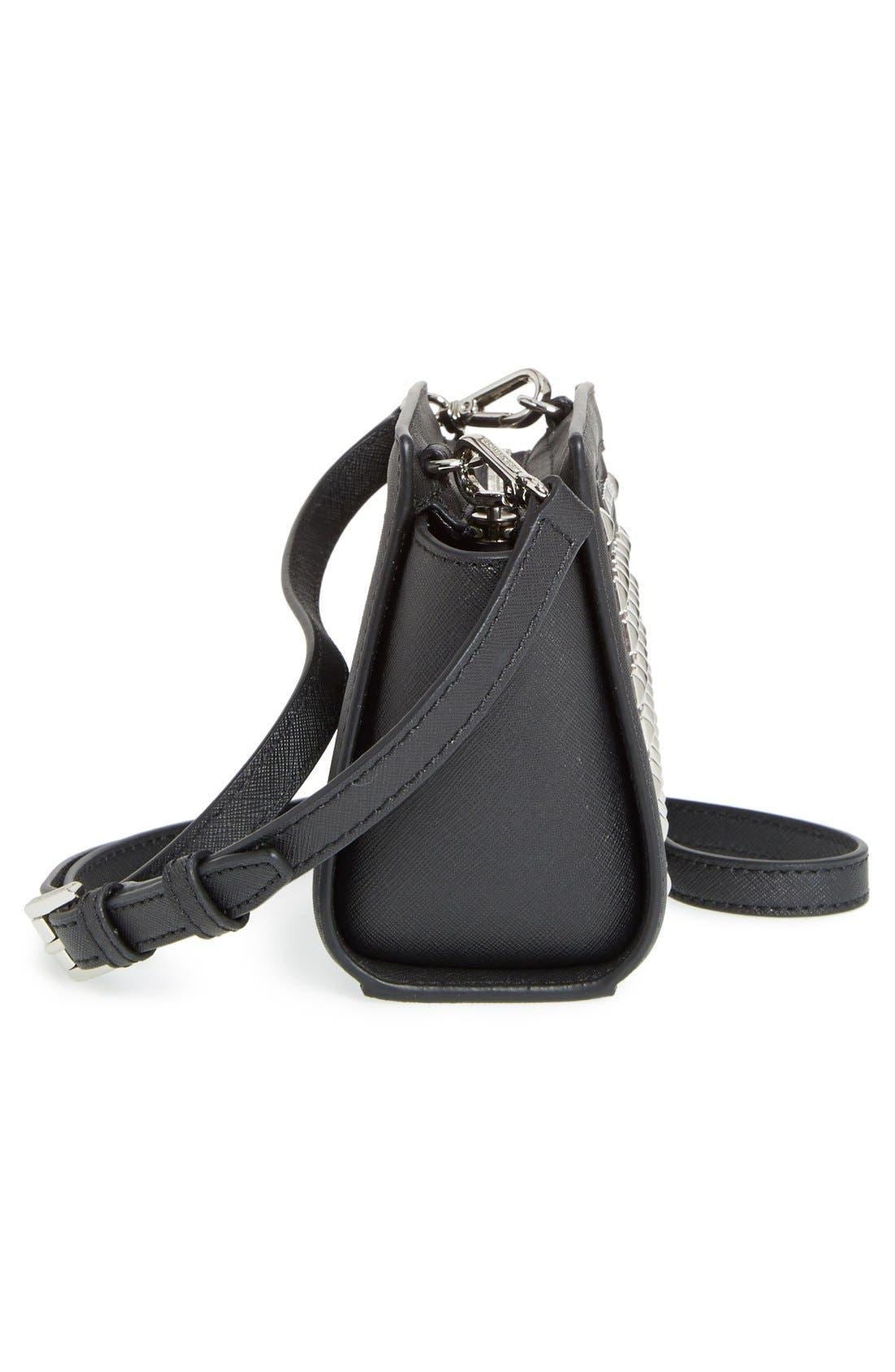 Alternate Image 5  - MICHAEL Michael Kors 'Mini Selma' Studded Saffiano Leather Crossbody Bag