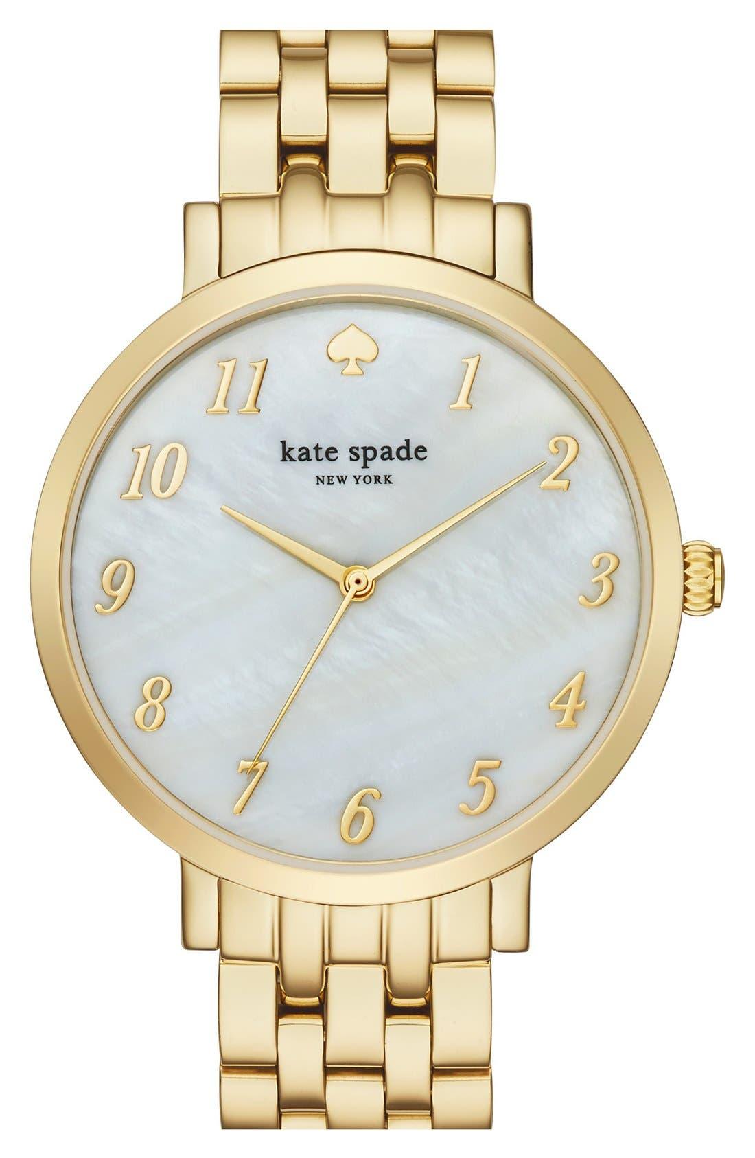 Alternate Image 1 Selected - kate spade new york 'monterey' bracelet watch, 38mm