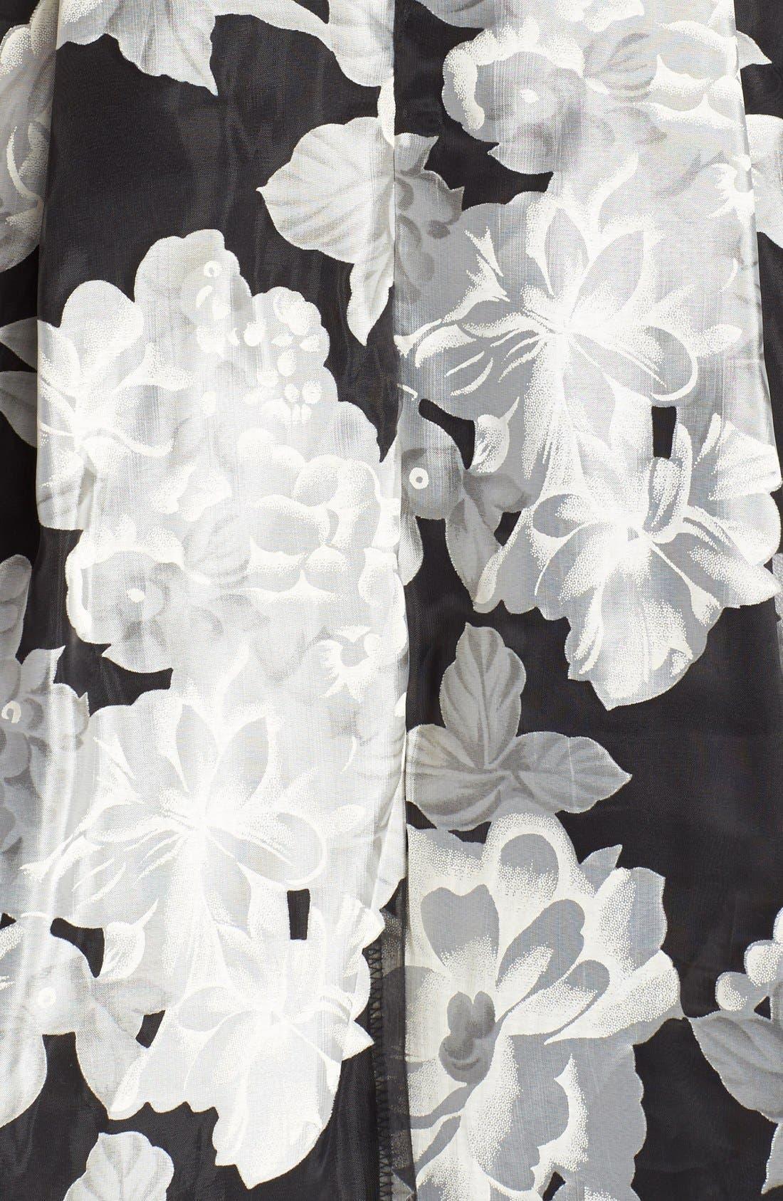 Alternate Image 4  - Aidan by Aidan Mattox Floral Print Fit & Flare Dress