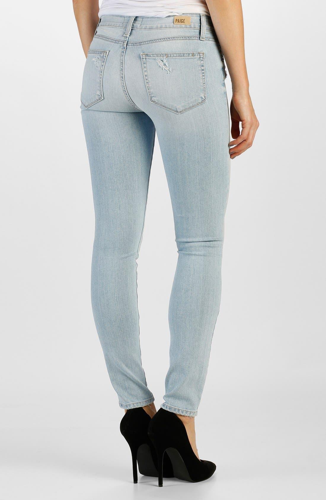 Alternate Image 2  - Paige Denim 'Verdugo' Ultra Skinny Jeans (Harriet Destructed)