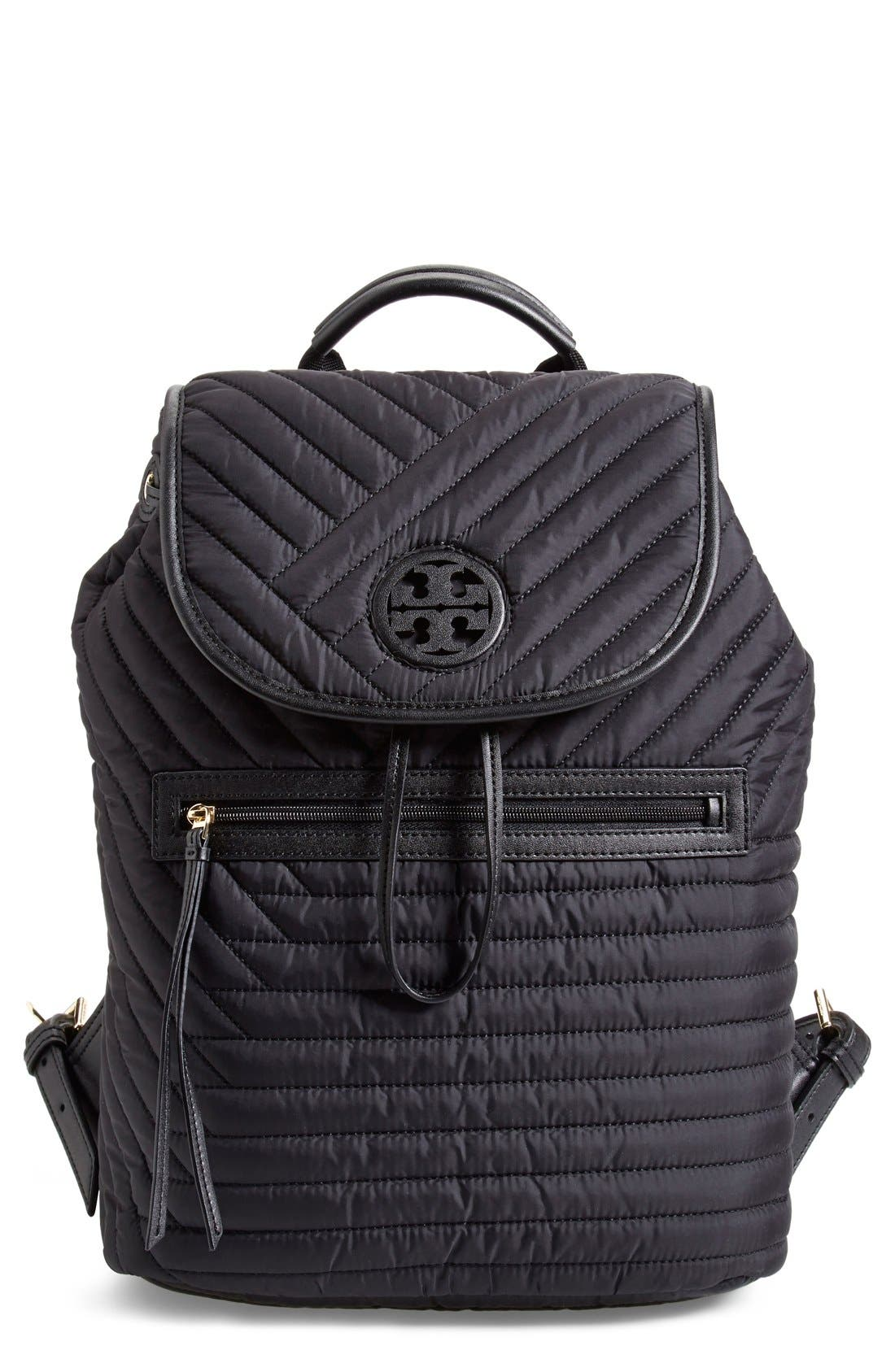 Main Image - Tory Burch Quilted Nylon Backpack