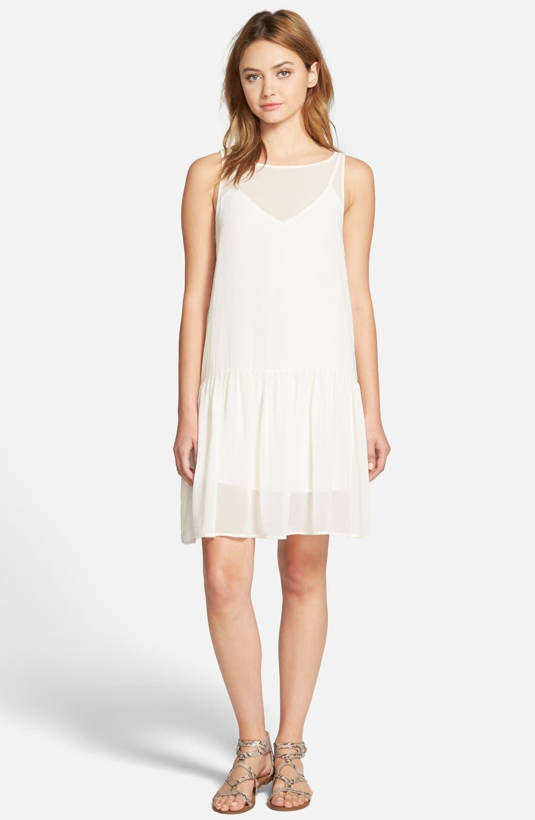 Alternate Image 1 Selected - cupcakes and cashmere 'Laurel' Sleeveless Chiffon Dress
