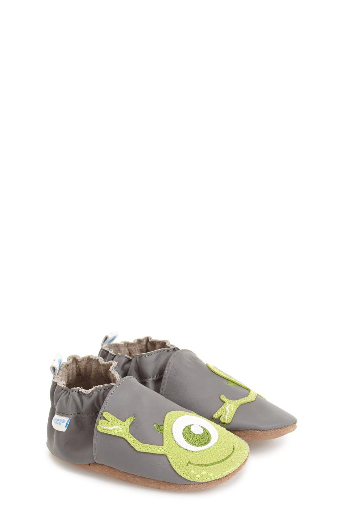 ROBEEZ® 'Disney® Monsters, Inc. ®' Slip-On Crib Shoe