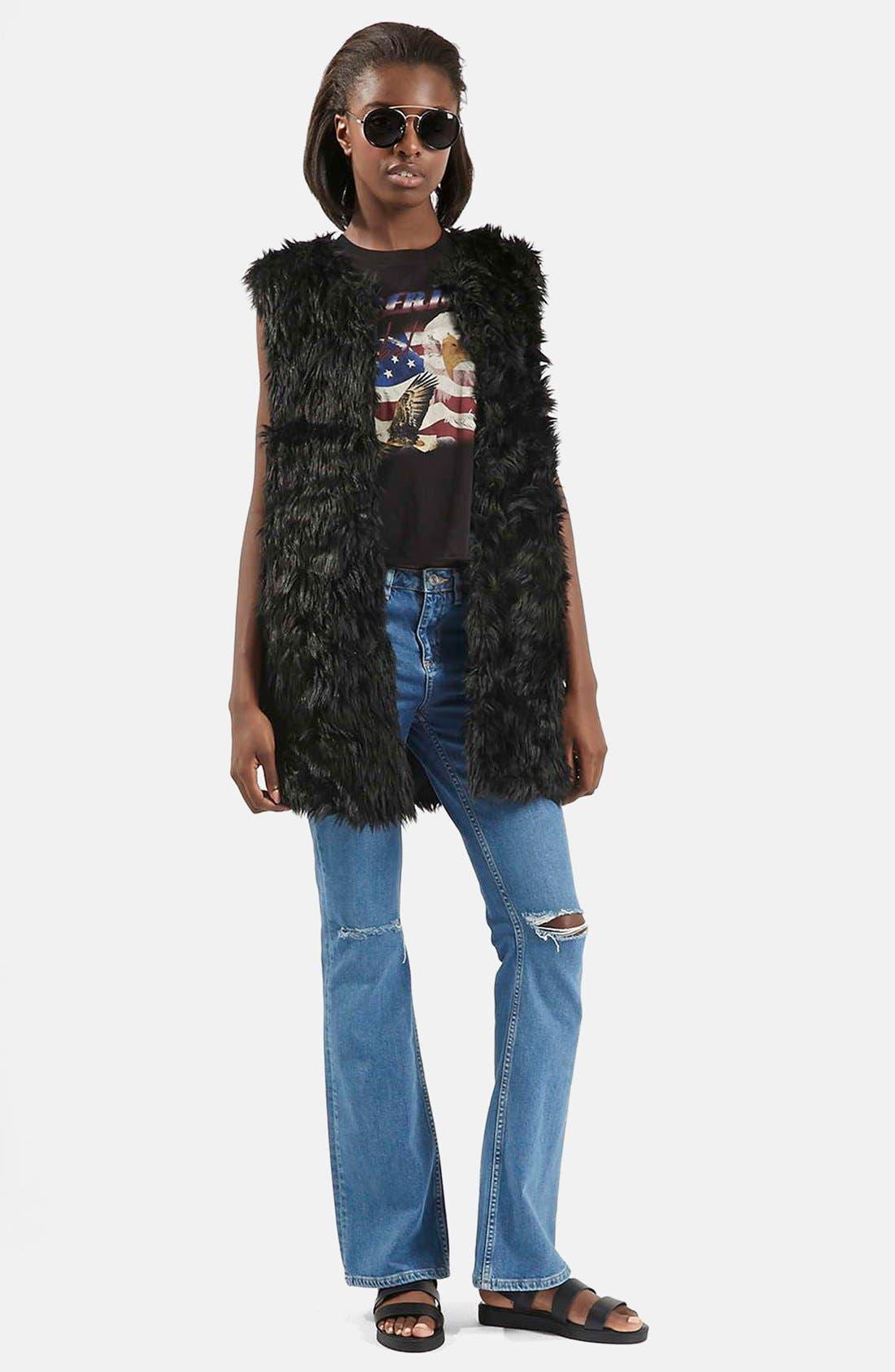 Alternate Image 2  - Topshop Shaggy Faux Fur Vest