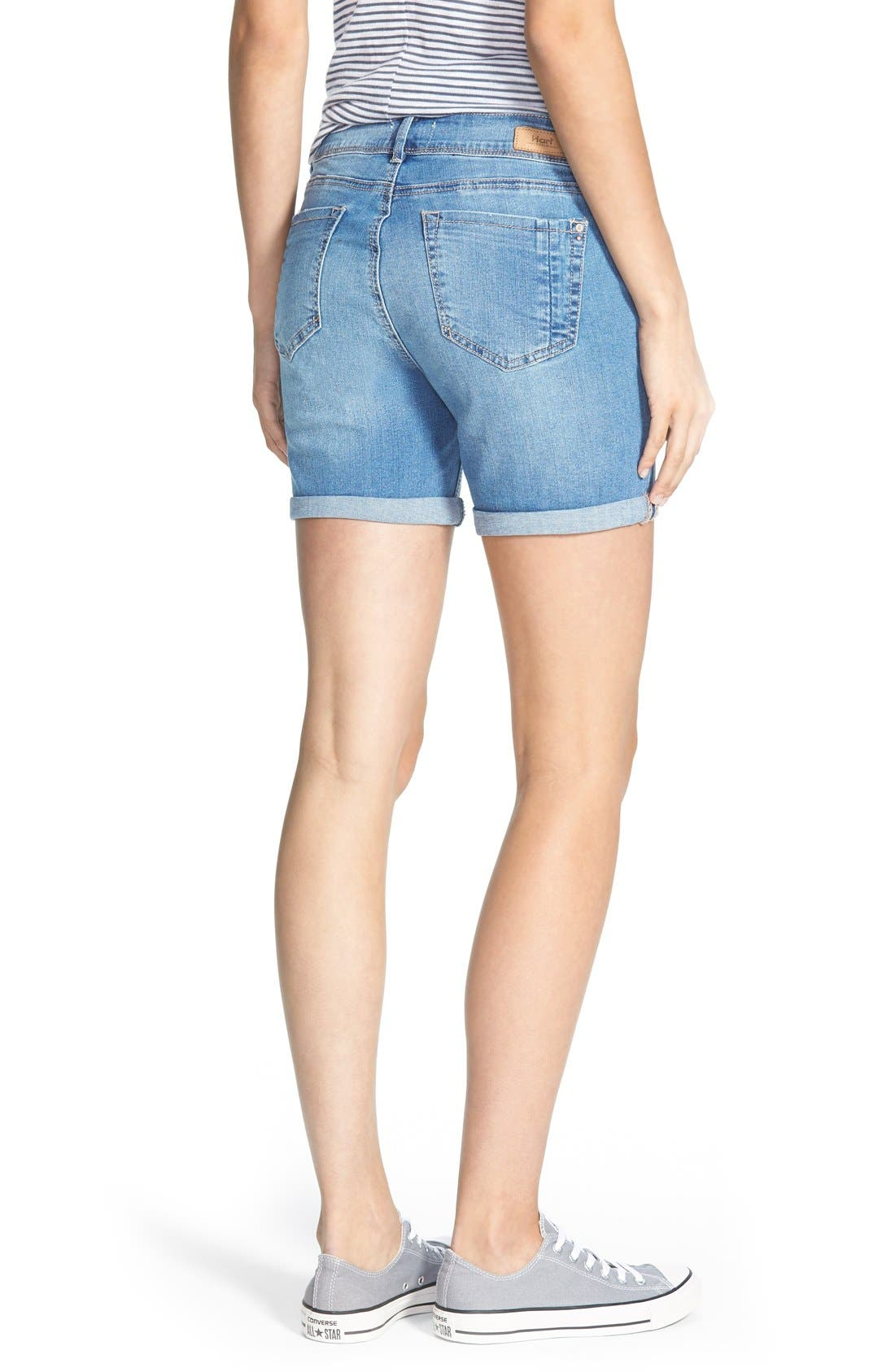 Alternate Image 2  - HART Denim 'Nixie' Cuffed Denim Shorts (Light Stone)