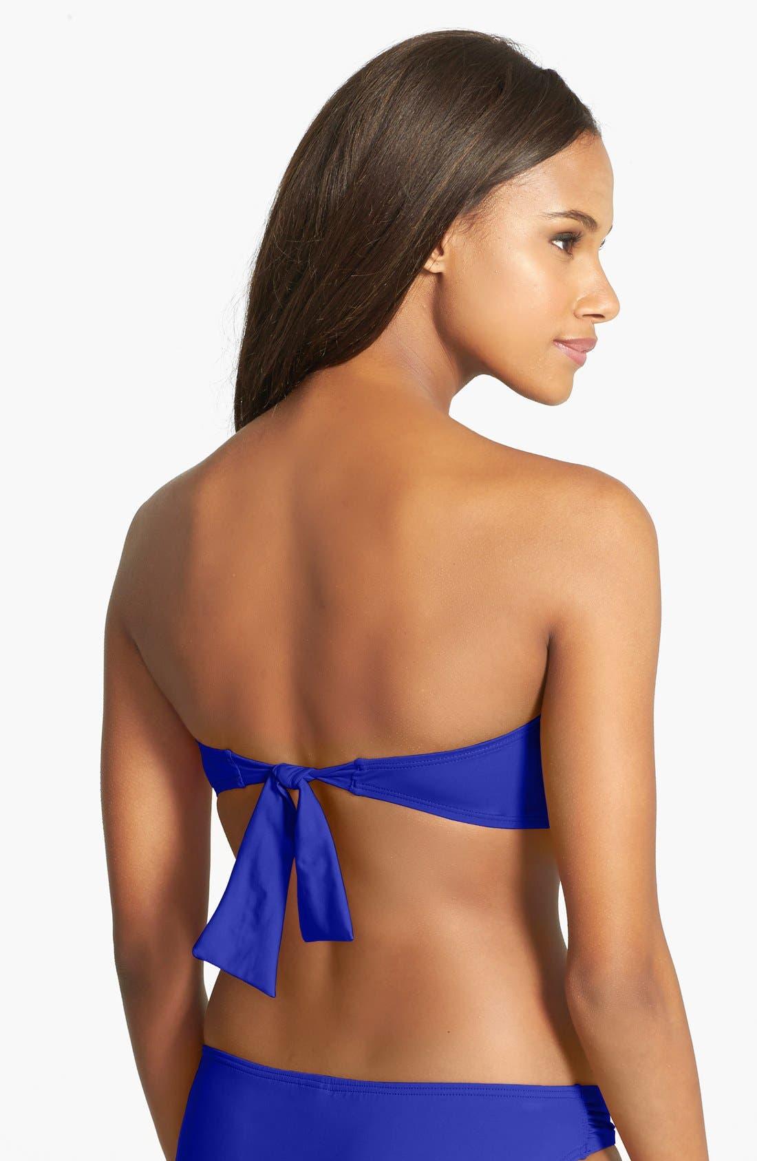 Alternate Image 2  - Tommy Bahama Twist Front Bandeau Bikini Top