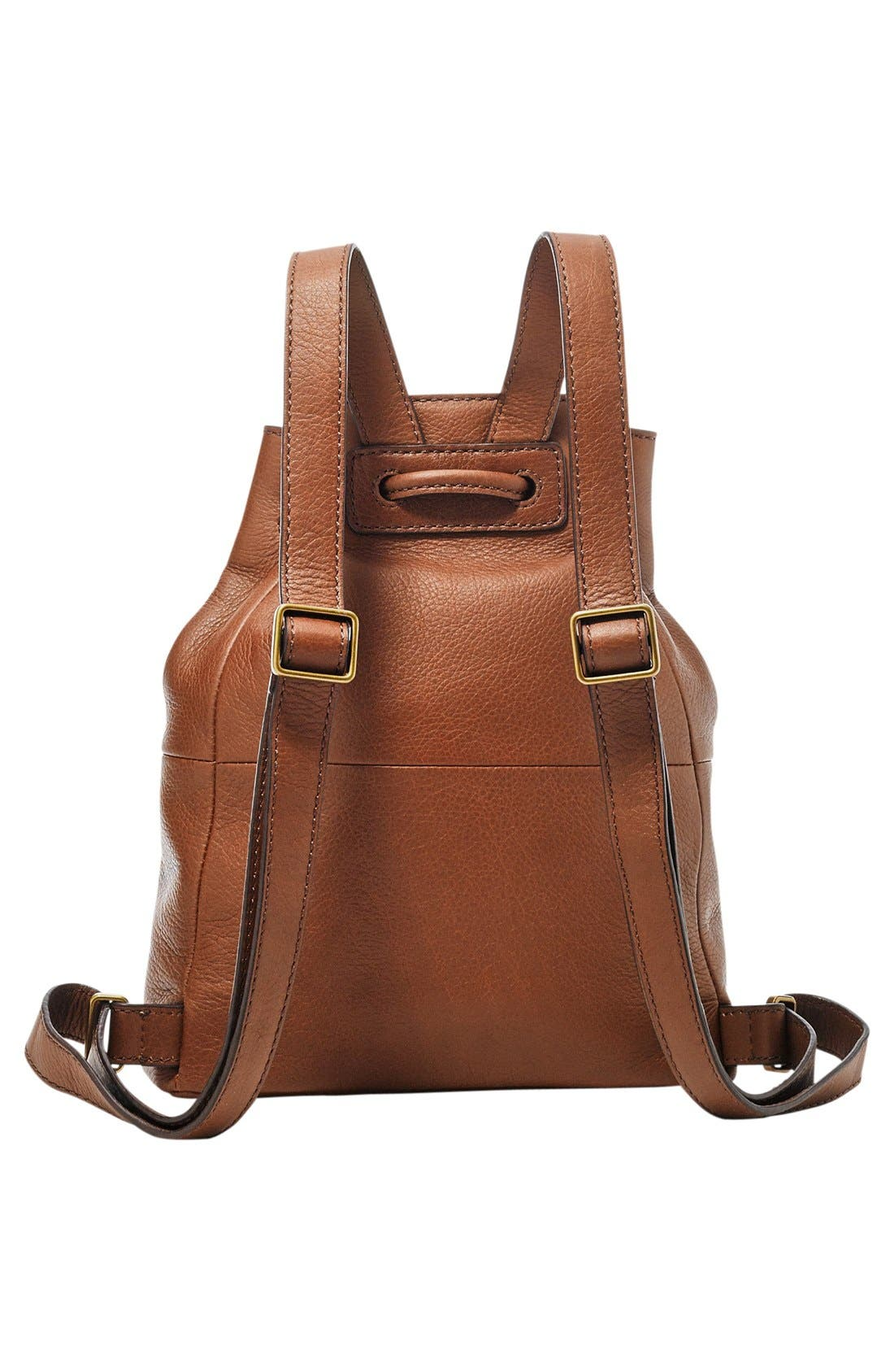 Alternate Image 2  - Fossil 'Vickery' Drawstring Leather Backpack