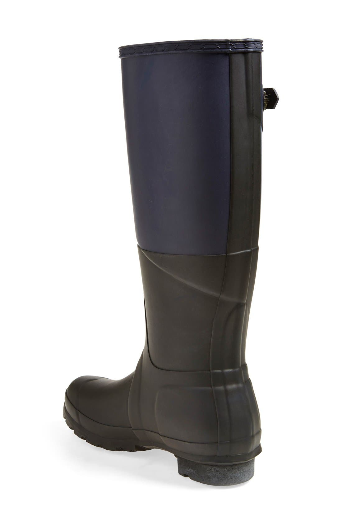 Alternate Image 2  - Hunter 'Original - Asymmetric Colorblock' Waterproof Rain Boot (Women)