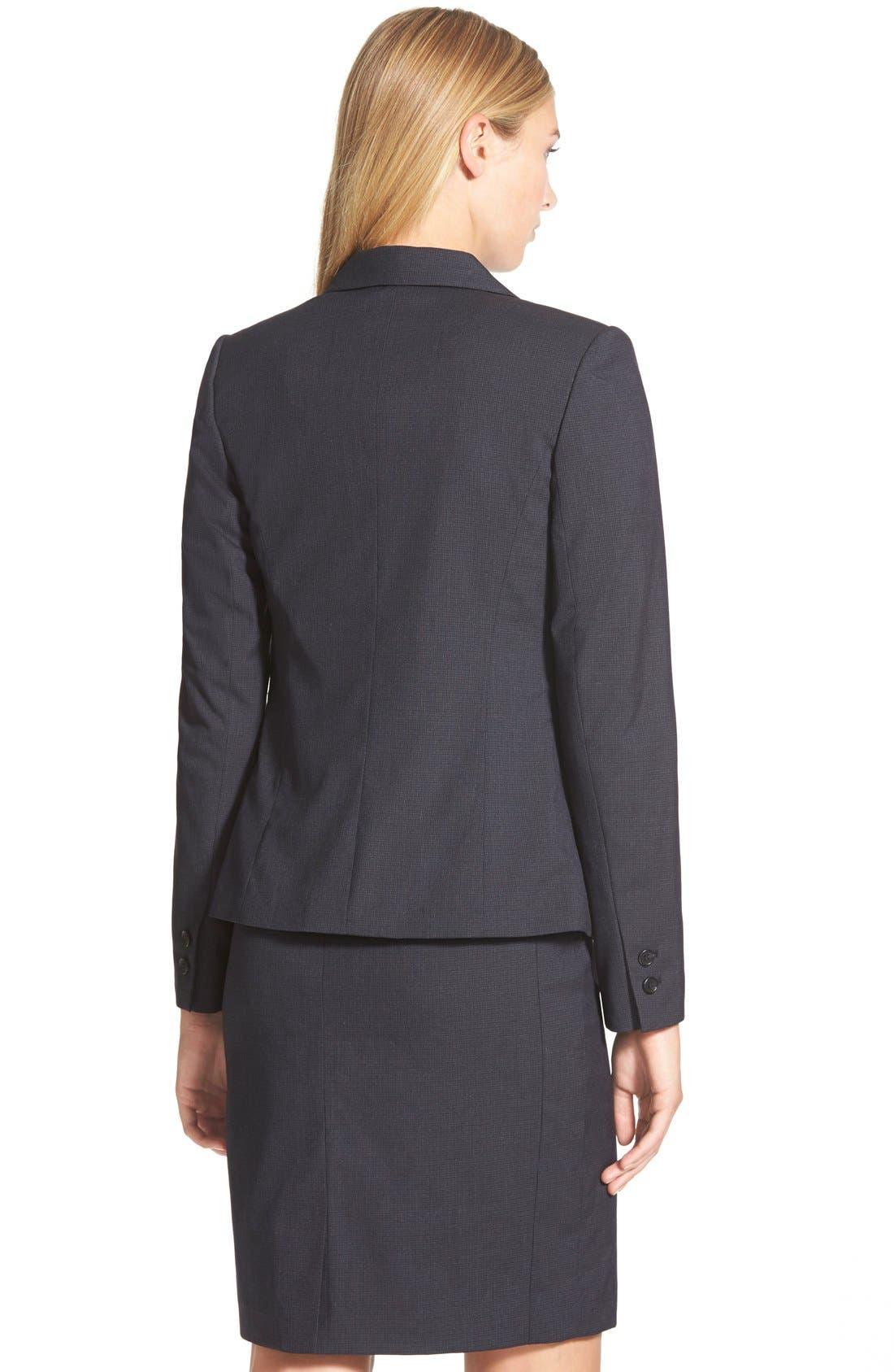 Alternate Image 3  - Halogen® Crosshatch Suit Jacket (Regular & Petite)