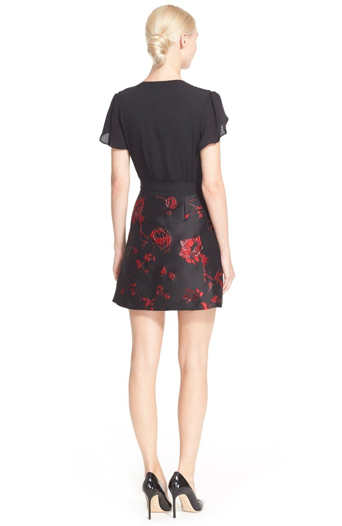 Alternate Image 2  - Diane von Furstenberg 'Ivy' Floral Brocade Dress