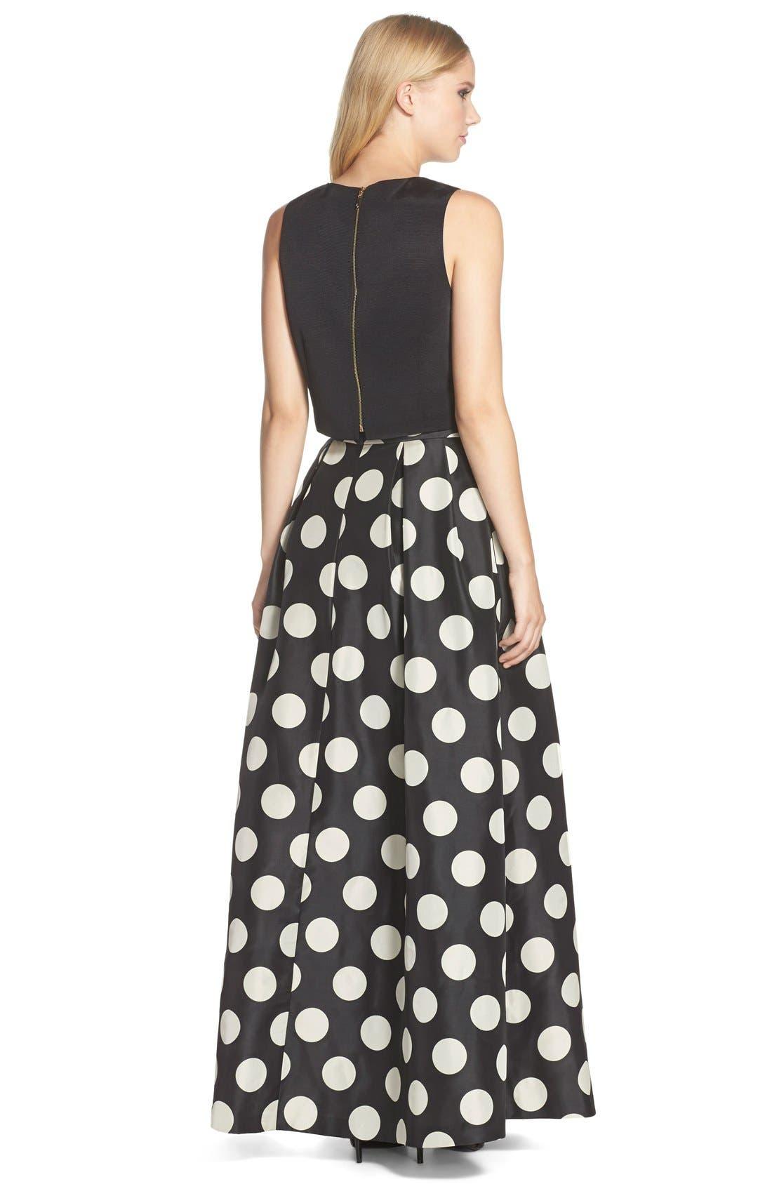 Alternate Image 3  - Eliza J Polka Dot Woven Ball Skirt