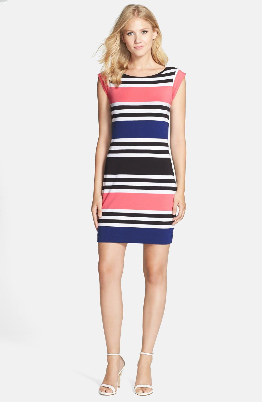Alternate Image 3  - French Connection 'Jag' Stripe Stretch Cotton Knit Dress