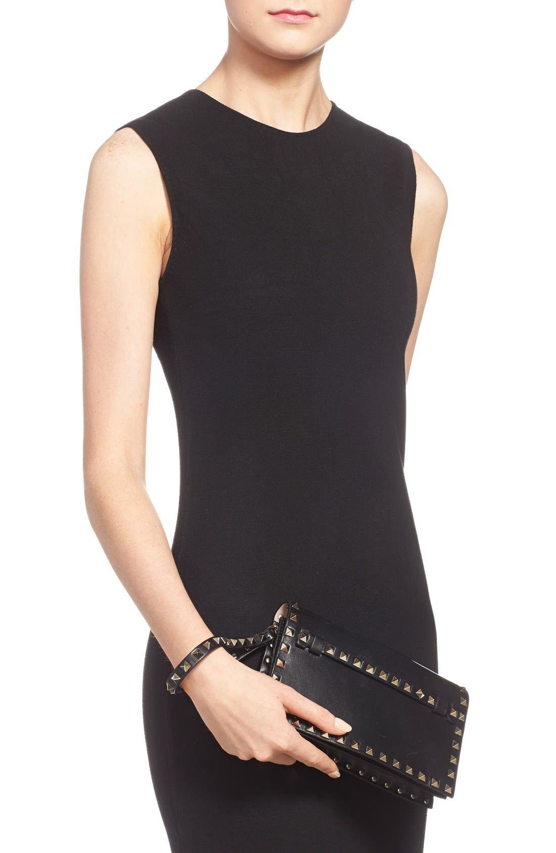 Alternate Image 2  - Valentino 'Small Rockstud' Leather Flap Clutch
